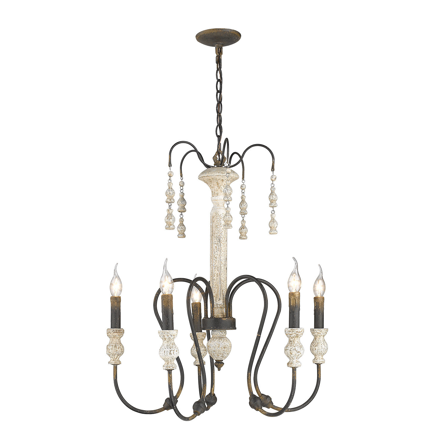 Newest Corneau 5-Light Chandeliers with regard to Sherrie 5-Light Candle Style Chandelier