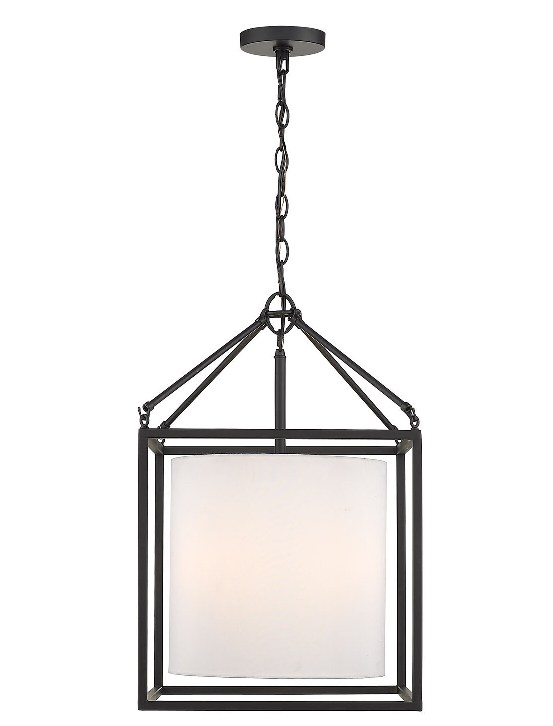 Newest Dinapoli 3 Light Lantern Chandelier Inside Louanne 3 Light Lantern Geometric Pendants (View 10 of 25)