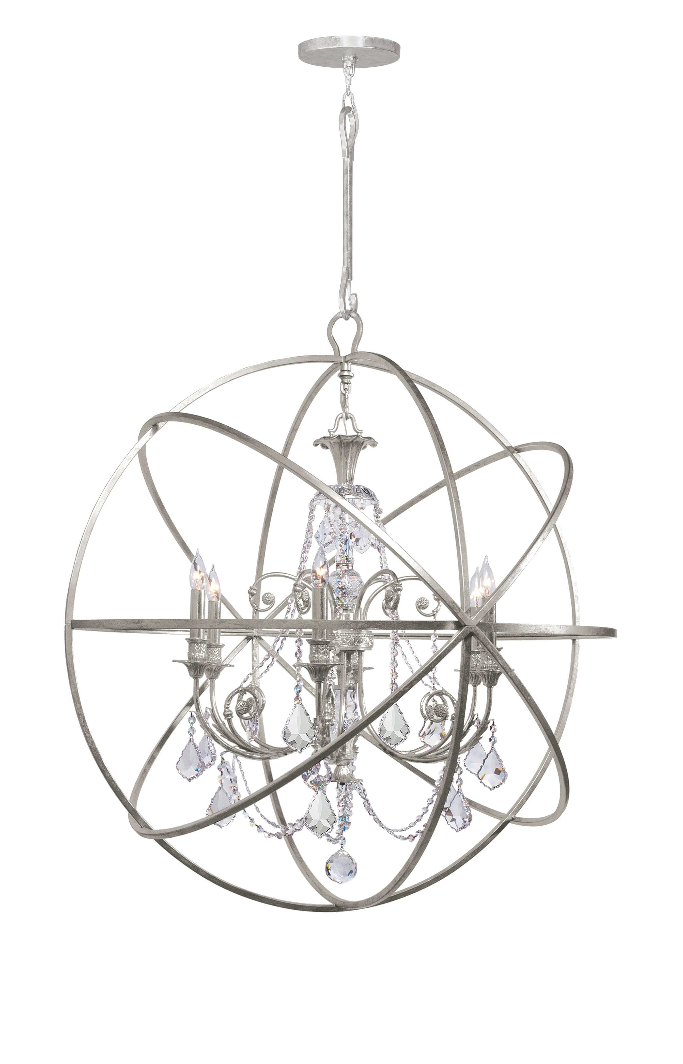 Newest Gregoire 6-Light Globe Chandelier for Gregoire 6-Light Globe Chandeliers