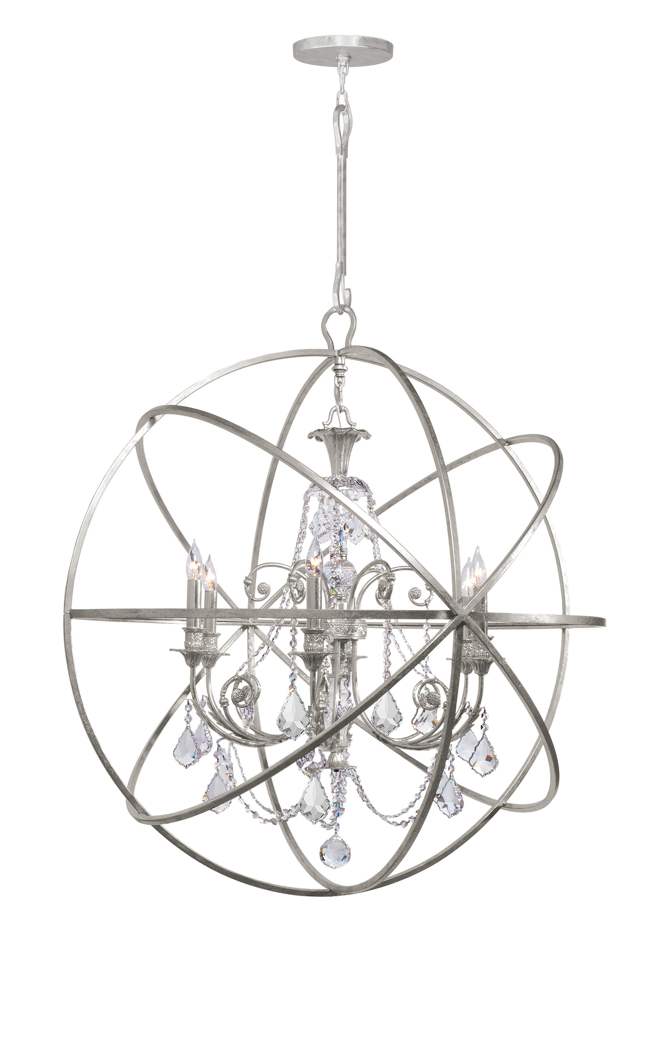 Newest Gregoire 6 Light Globe Chandelier For Gregoire 6 Light Globe Chandeliers (View 21 of 25)