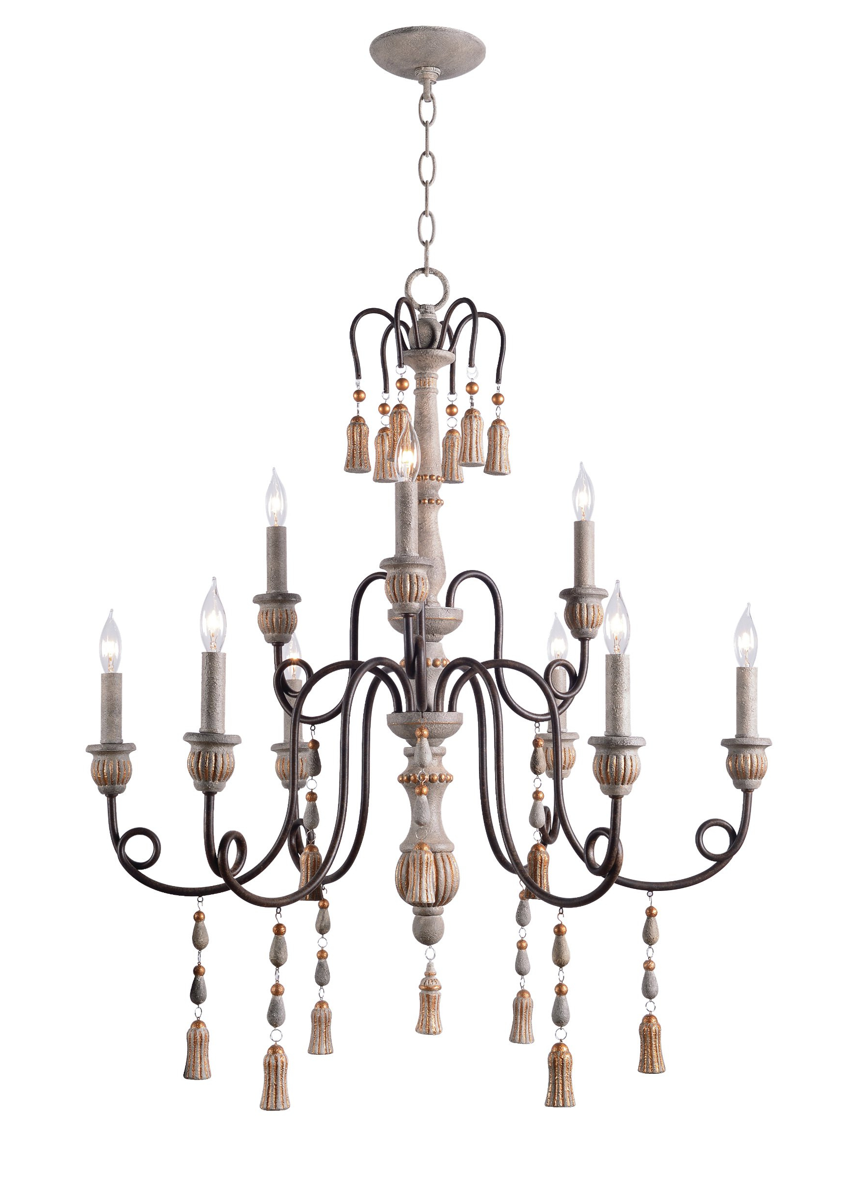 Newest Hassan 9-Light Candle Style Chandelier intended for Bouchette Traditional 6-Light Candle Style Chandeliers
