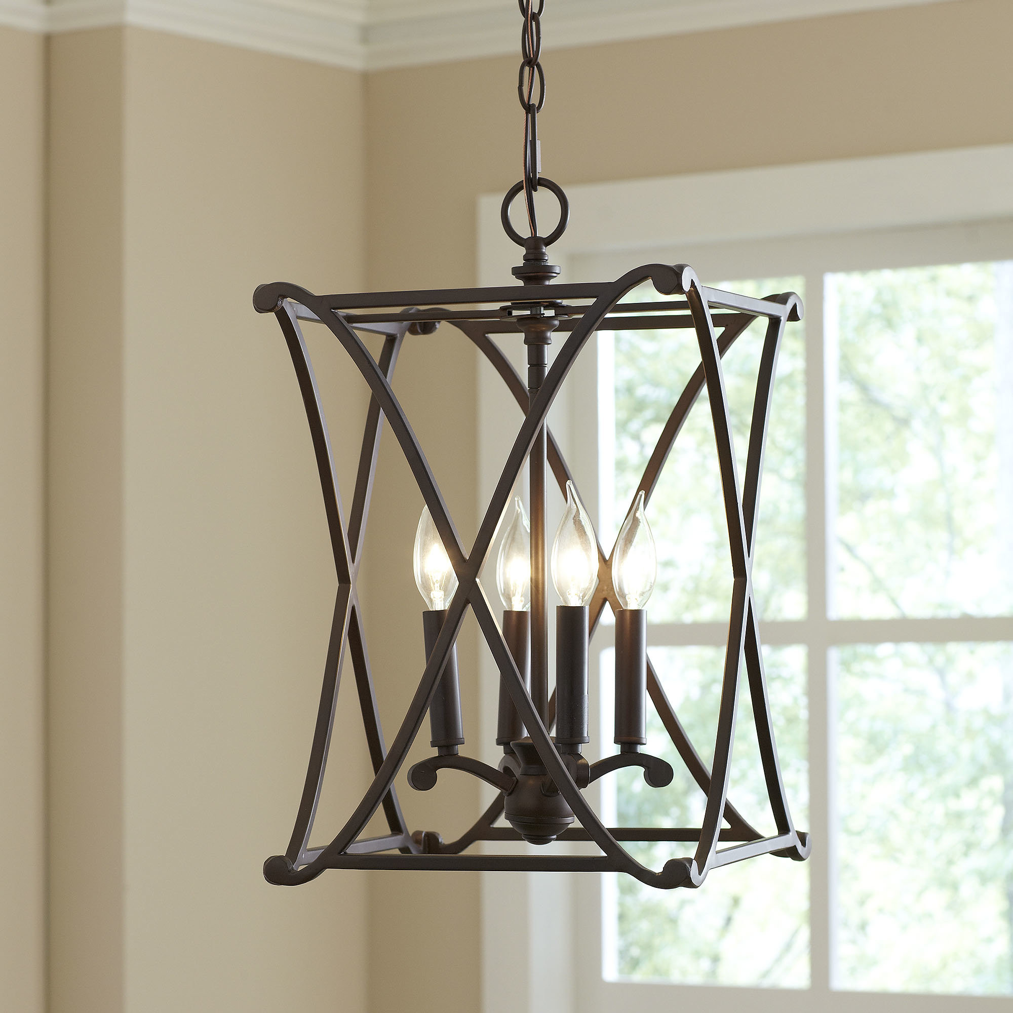 Newest Nisbet 4 Light Square/rectangle Pendant Throughout Taya 4 Light Lantern Square Pendants (View 12 of 25)