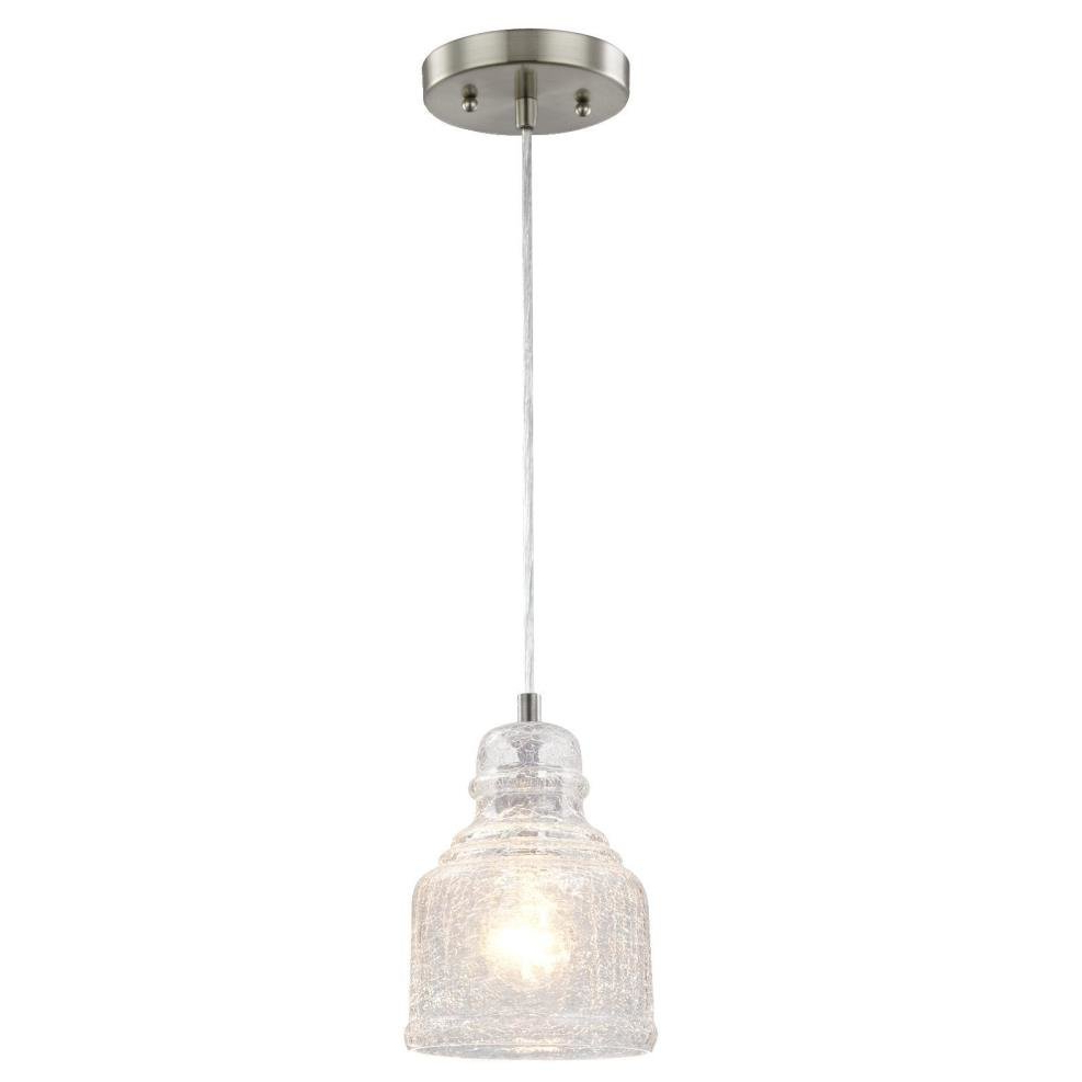 Newest Oldbury 1 Light Single Cylinder Pendants Throughout Glassell 1 Light Bell Pendant (View 17 of 25)