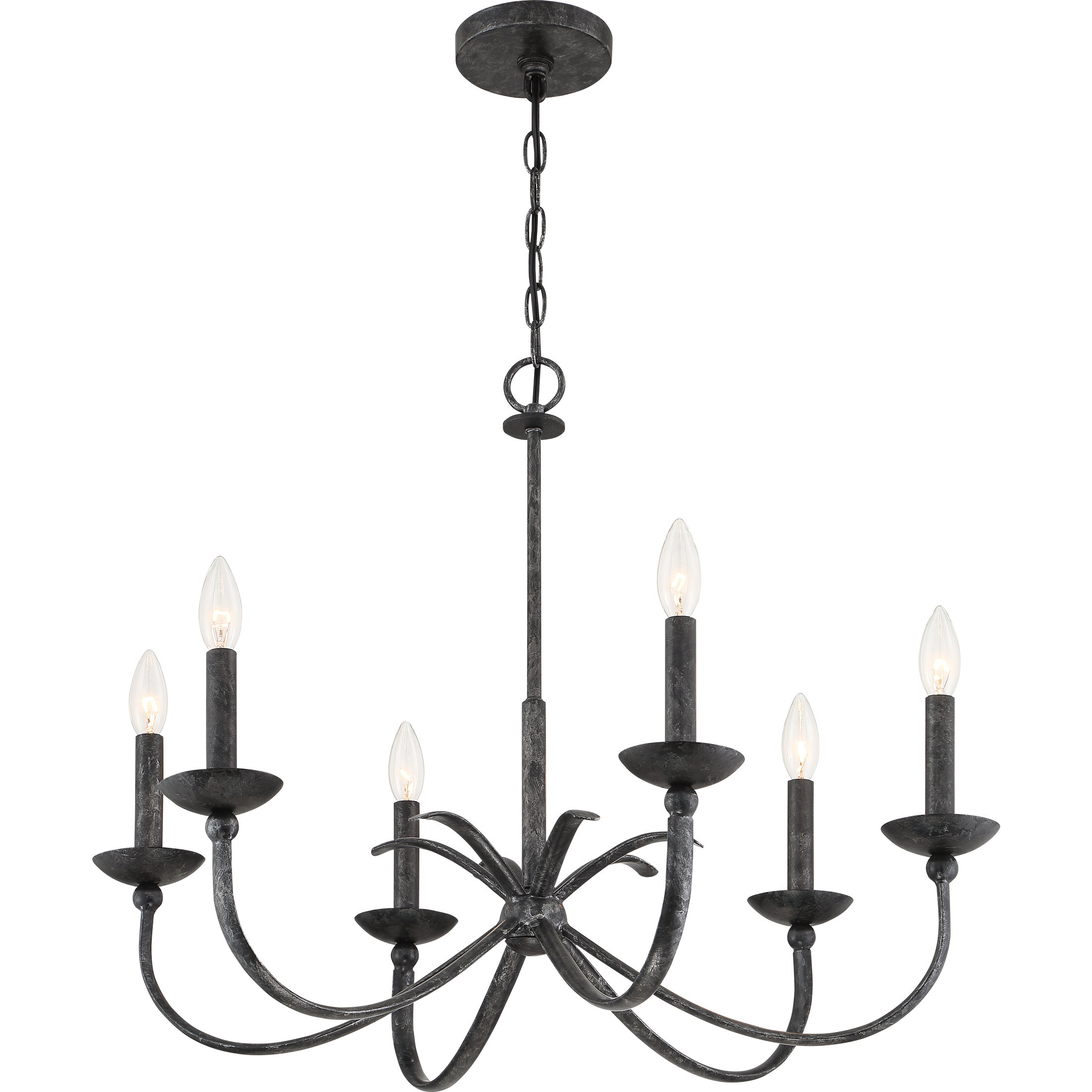 Newest Perseus 6-Light Candle Style Chandeliers regarding Goodin 6-Light Candle Style Chandelier