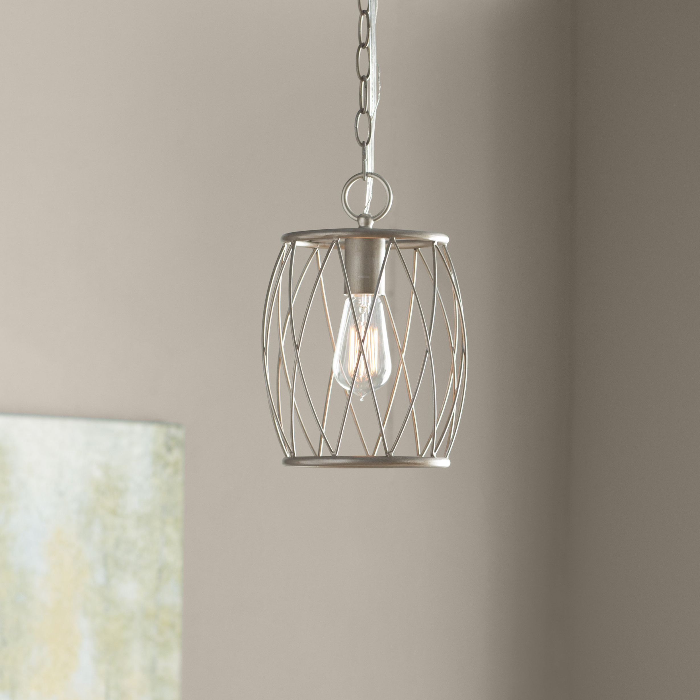 Newest Poynter 1-Light Cylinder Pendant with regard to Poynter 1-Light Single Cylinder Pendants