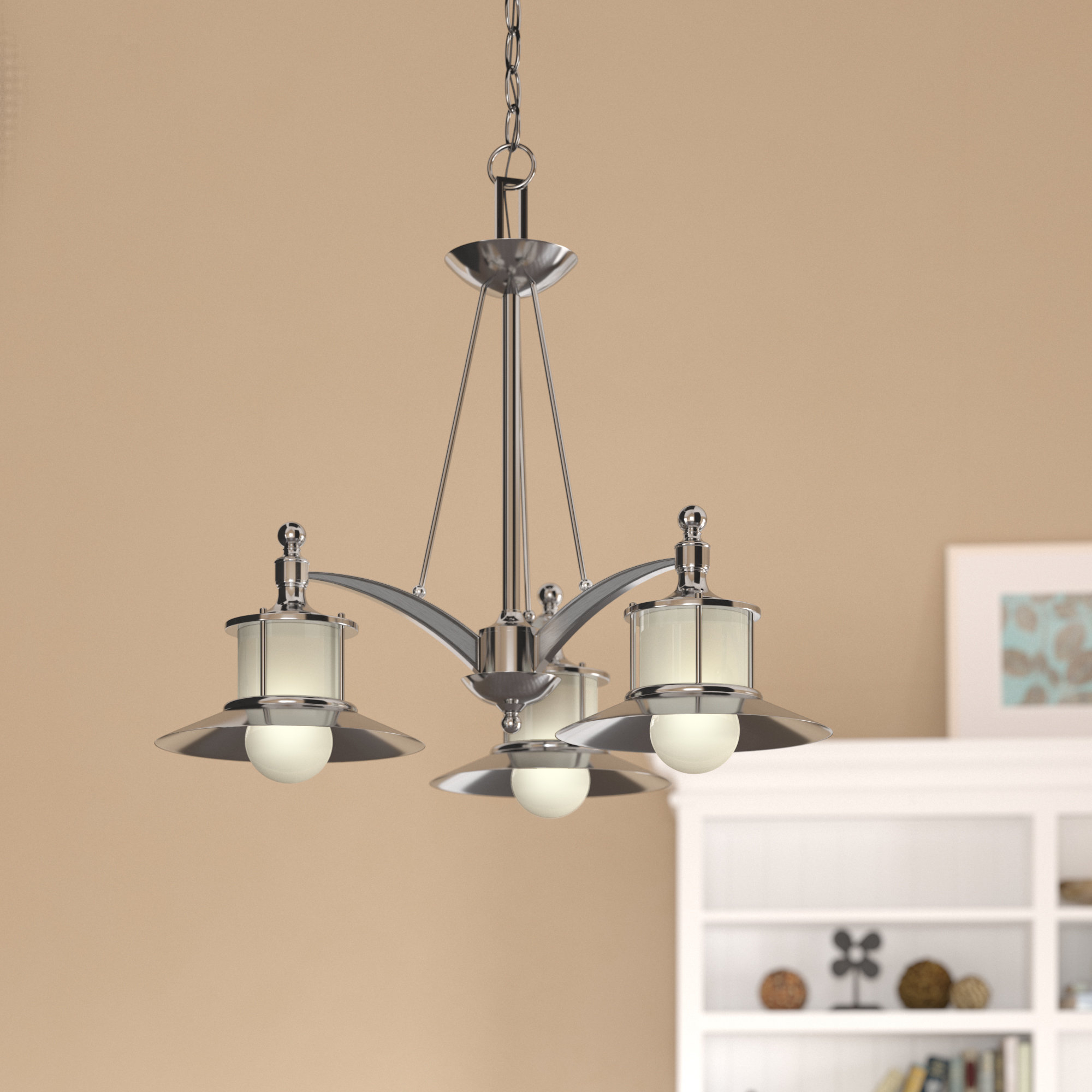 Newest Salley 3-Light Shaded Chandelier in Alayna 4-Light Shaded Chandeliers