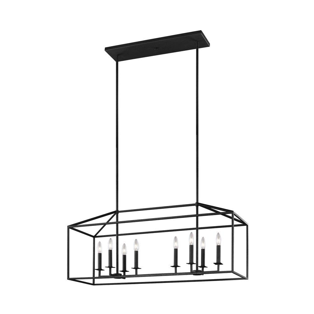 Newest Schutt 1-Light Cylinder Pendants regarding Perryton 40 In. W. 8-Light Blacksmith Island Chandelier