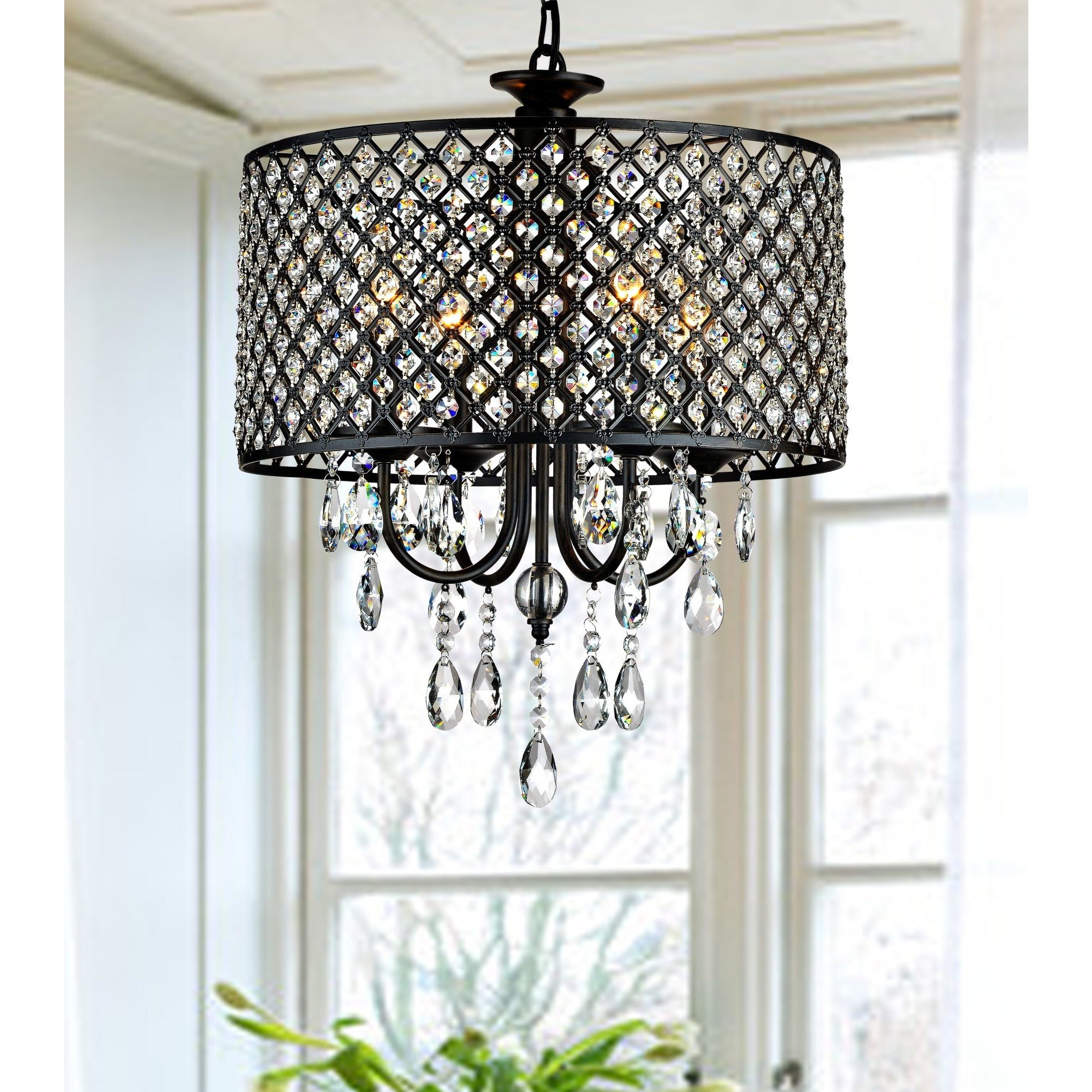 Newest Sinead 4-Light Chandeliers intended for Mckamey 4-Light Crystal Chandelier & Reviews