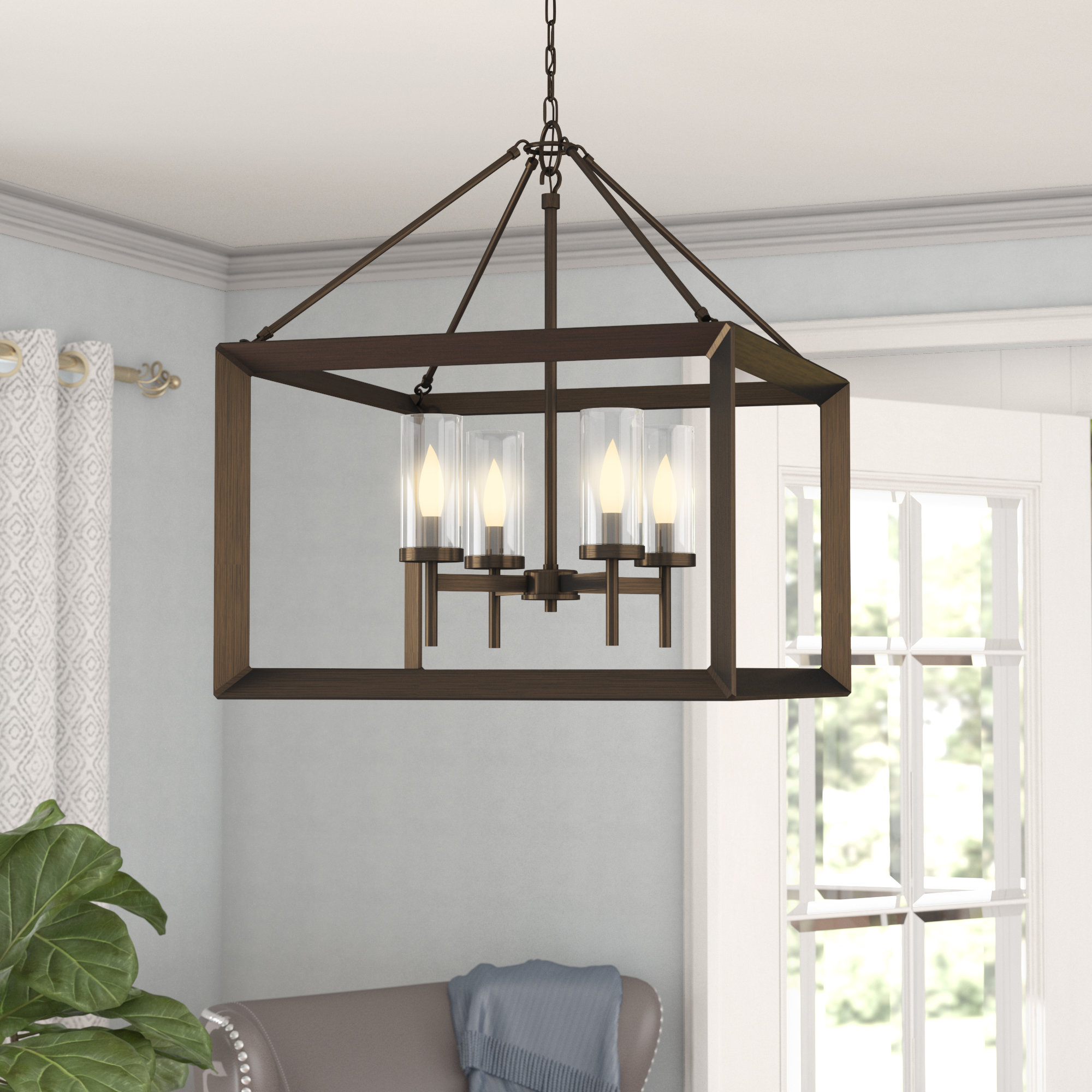 Newest Thorne 4-Light Lantern Rectangle Pendants with Thorne 4-Light Lantern Rectangle Pendant