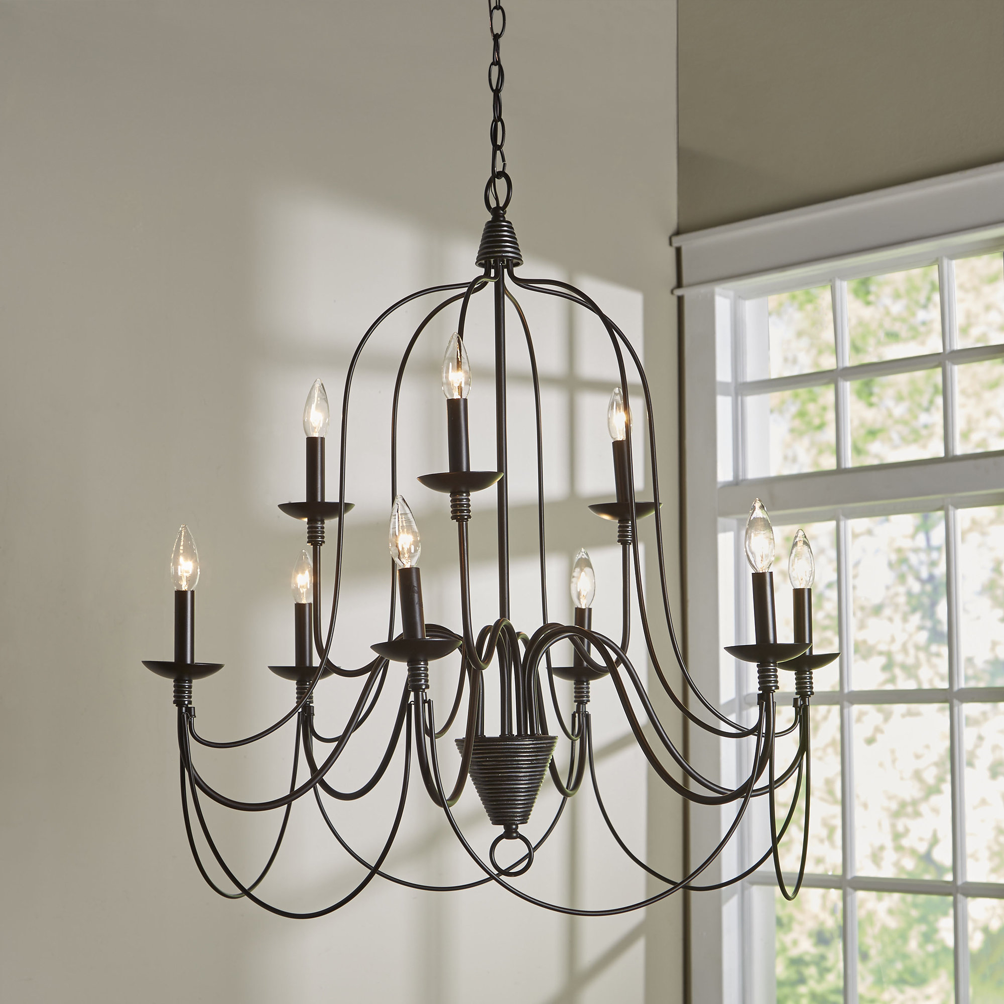 Newest Three Posts Watford 9-Light Candle Style Chandelier intended for Gaines 9-Light Candle Style Chandeliers