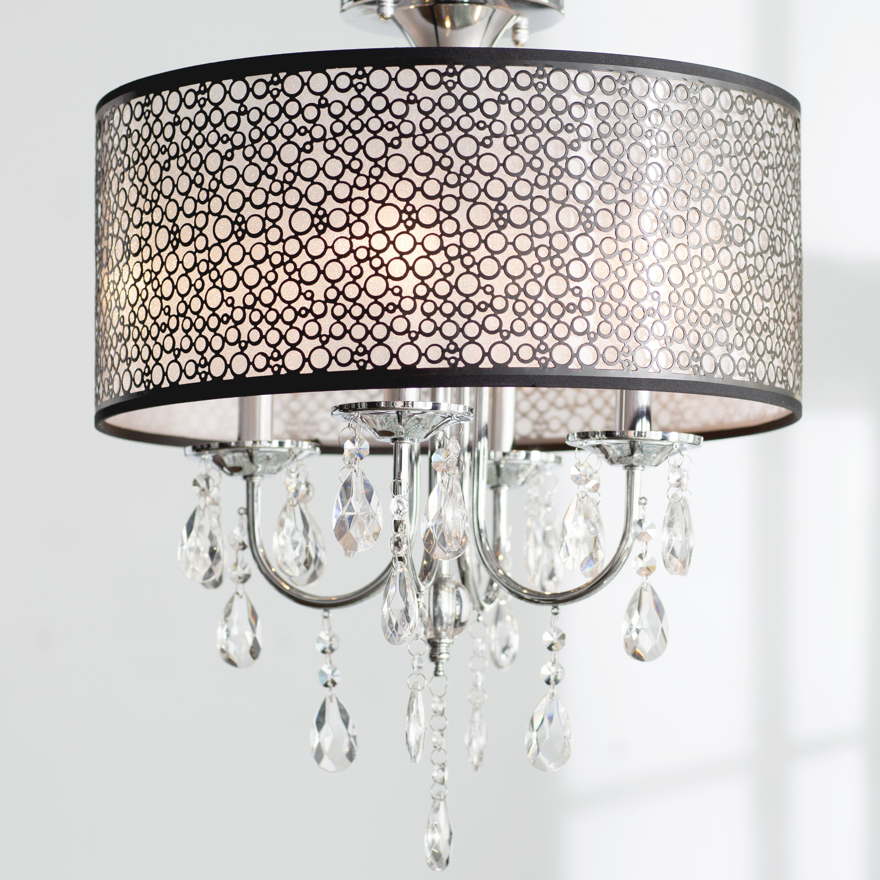 Newest Willa Arlo Interiors Sinead 4-Light Chandelier & Reviews pertaining to Gisselle 4-Light Drum Chandeliers