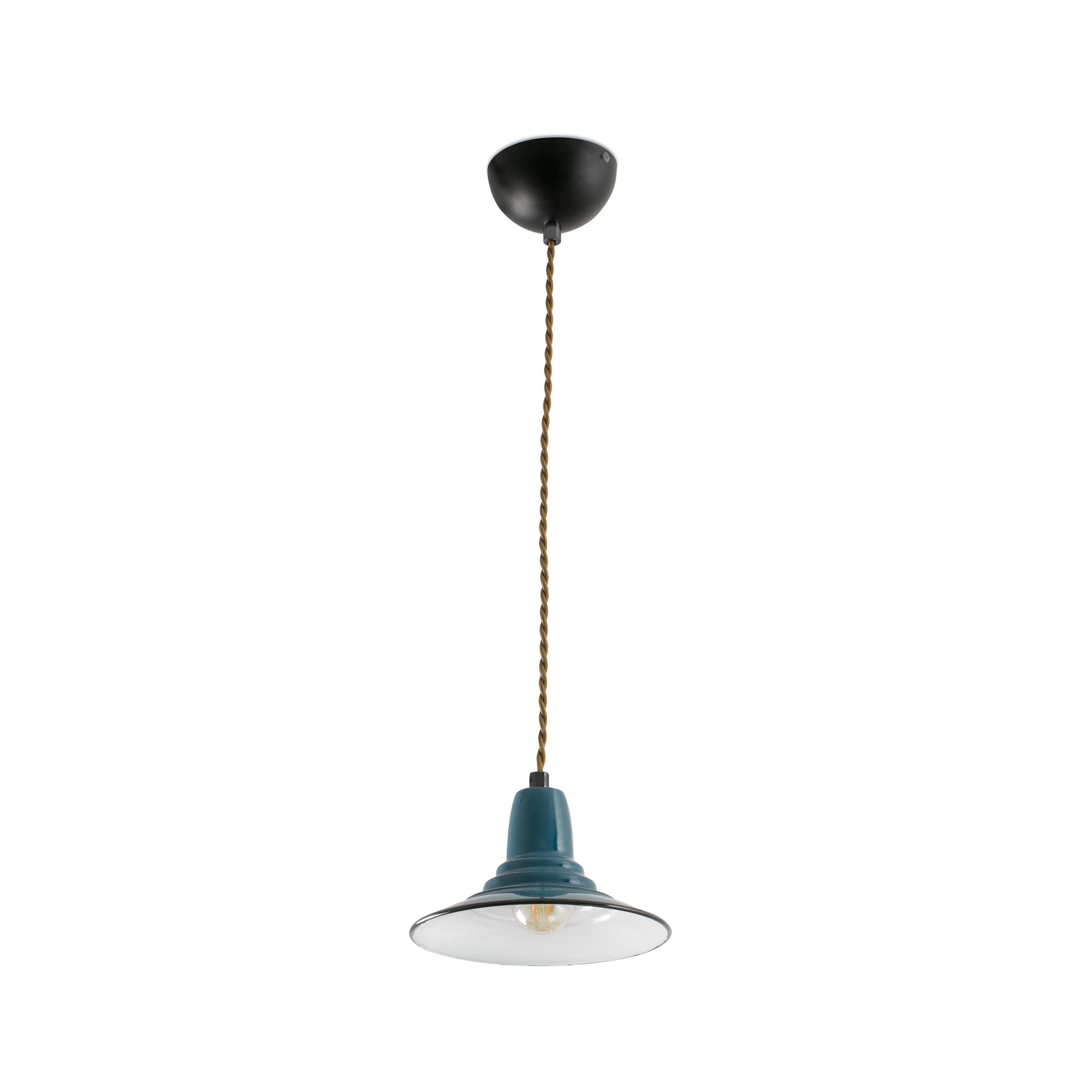 Ninette 1-Light Dome Pendants regarding Best and Newest 1 Light Ceiling Pendant White, Blue