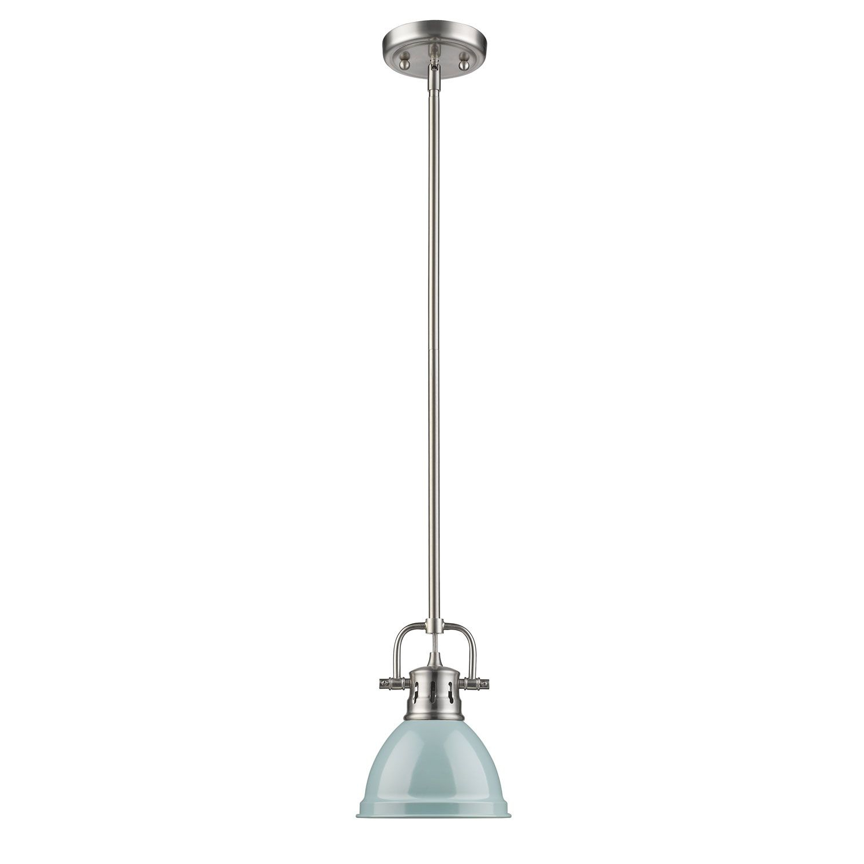 Ninette 1-Light Dome Pendants with Popular Golden Lighting Duncan Pewter One Light Mini Pendant With