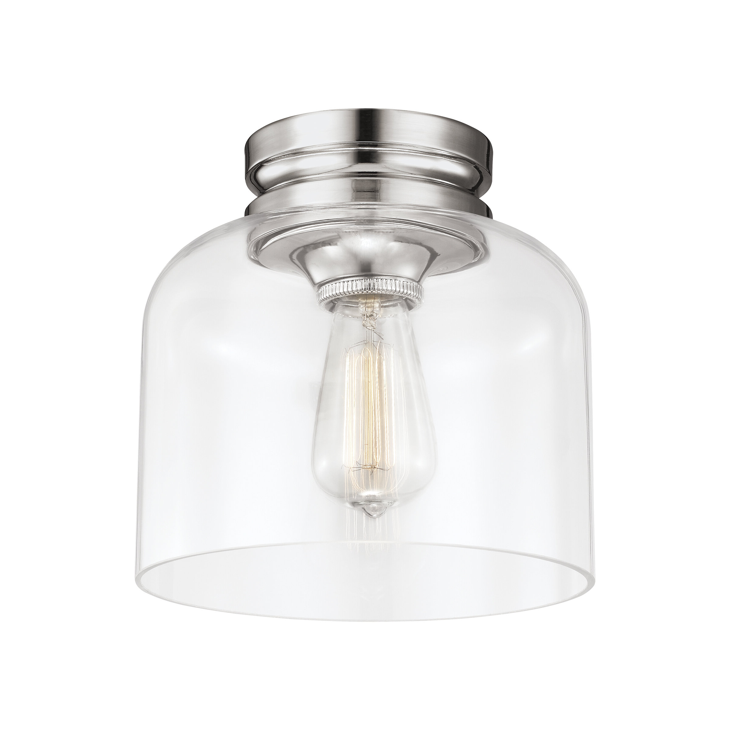 Nolan 1-Light Lantern Chandeliers pertaining to Most Up-to-Date Nolan 1-Light Semi Flush Mount