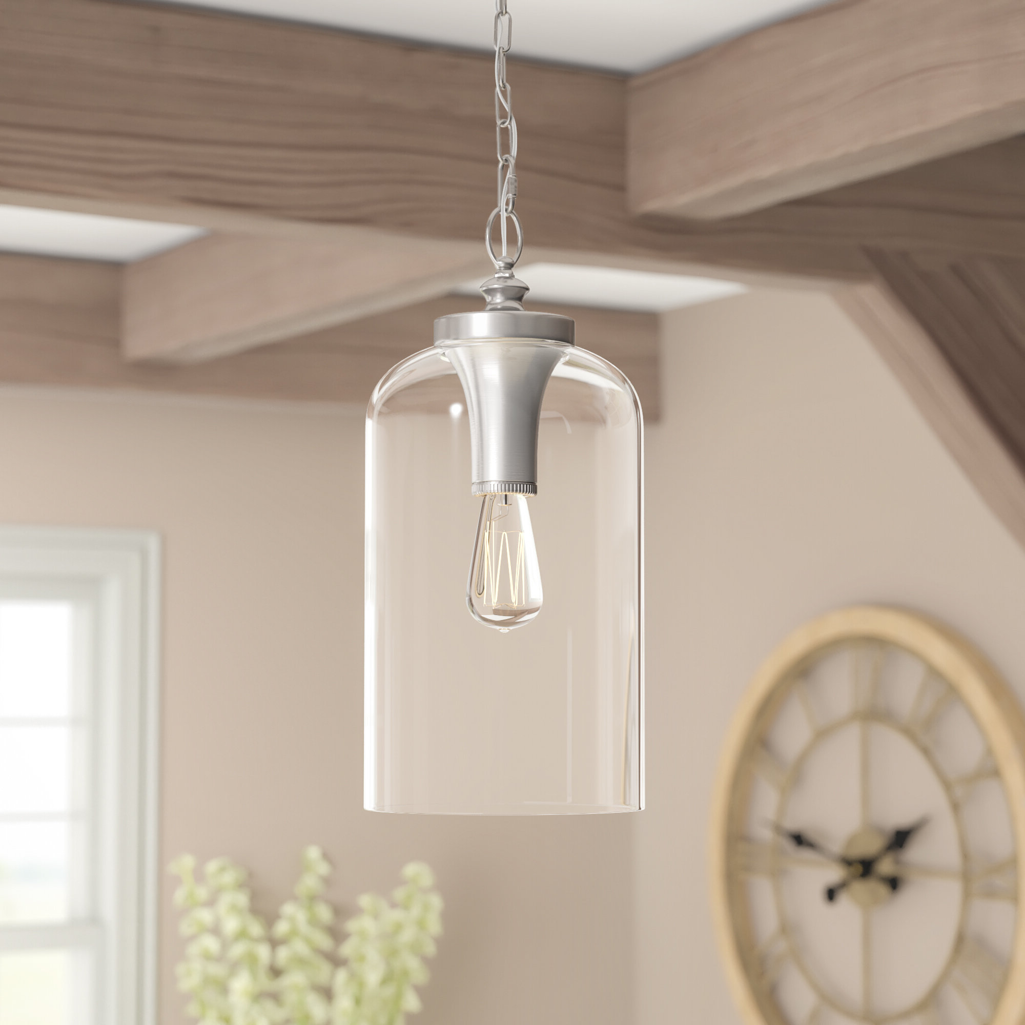 Nolan 1-Light Single Cylinder Pendant intended for Well-known Nolan 1-Light Lantern Chandeliers