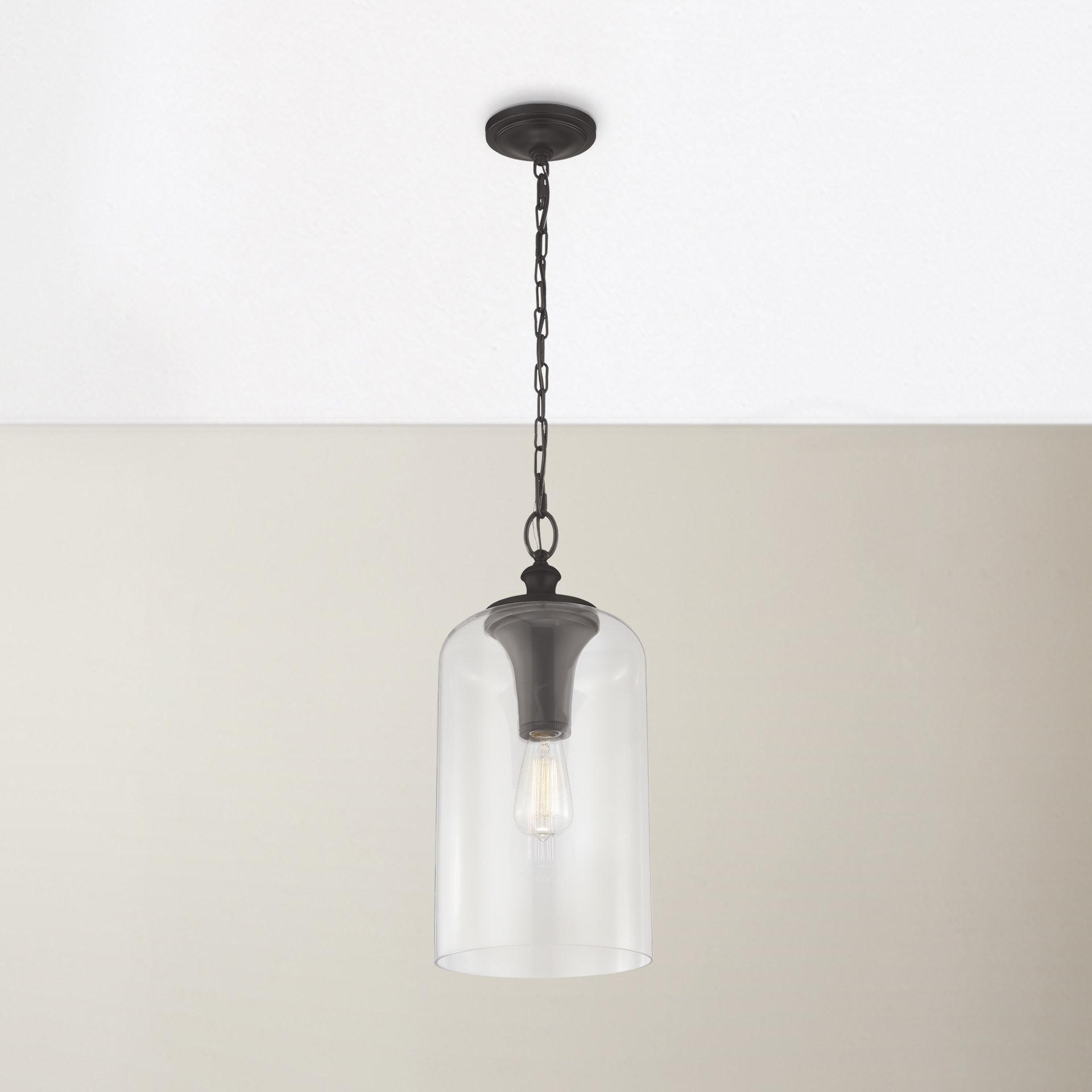 Nolan 1 Light Single Cylinder Pendant Regarding Well Liked Nolan 1 Light Lantern Chandeliers (View 15 of 25)