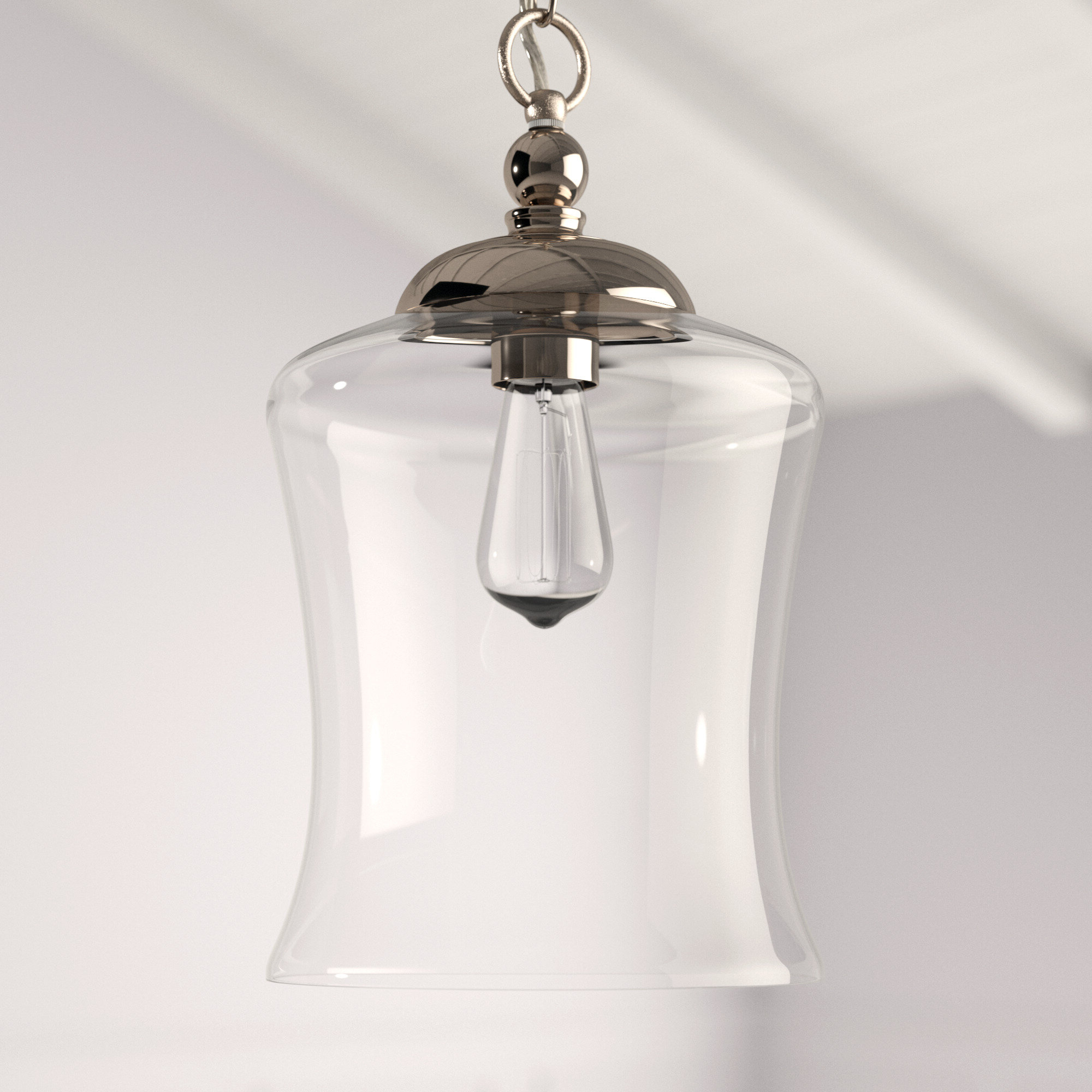 Nolan 1-Light Single Cylinder Pendants pertaining to Recent Wentzville 1-Light Single Bell Pendant