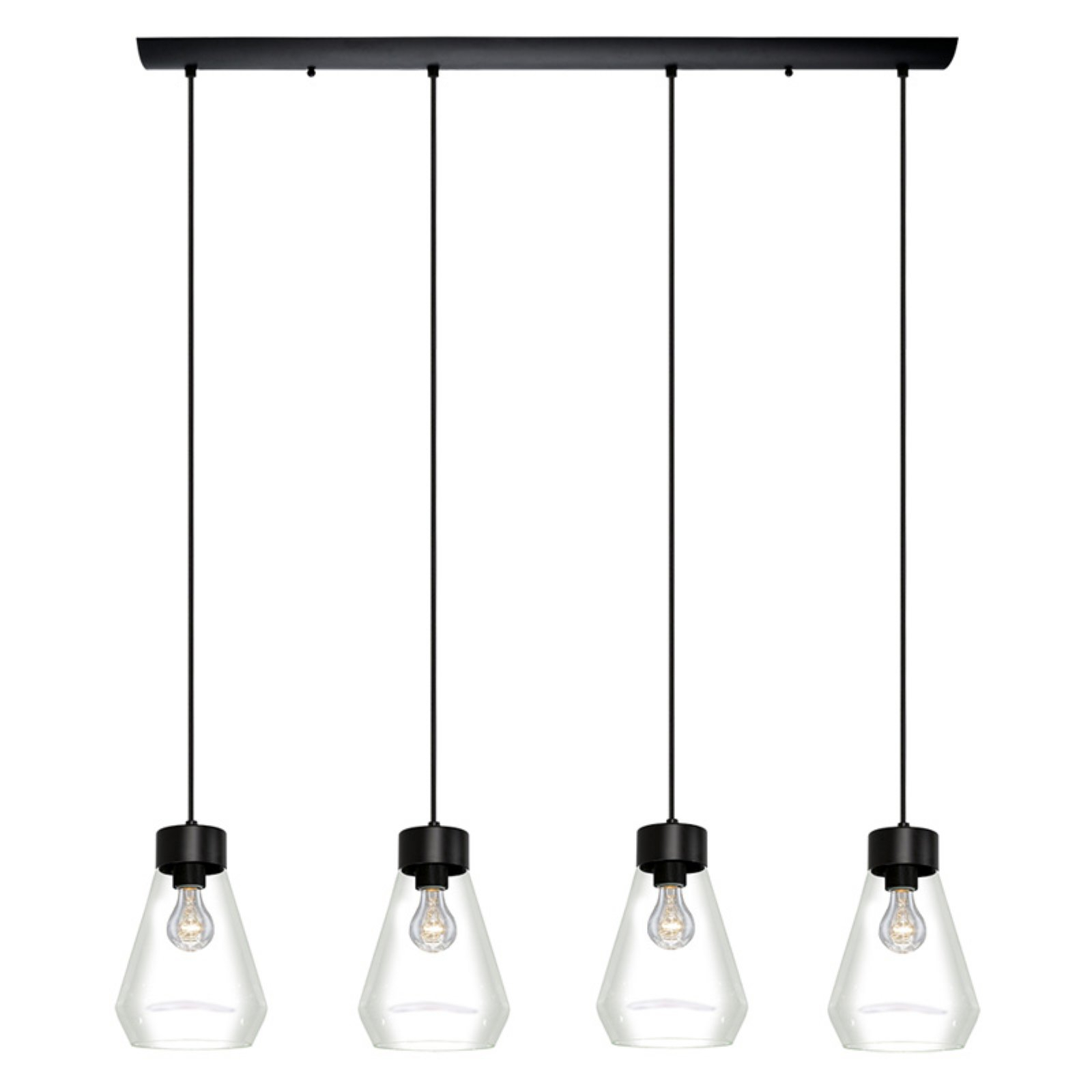 Novogratz Vintage 5 Light Kitchen Island Bulb Pendants Inside Fashionable Eglo Usa Montey 202126A Multi Light Pendant Light (View 13 of 25)