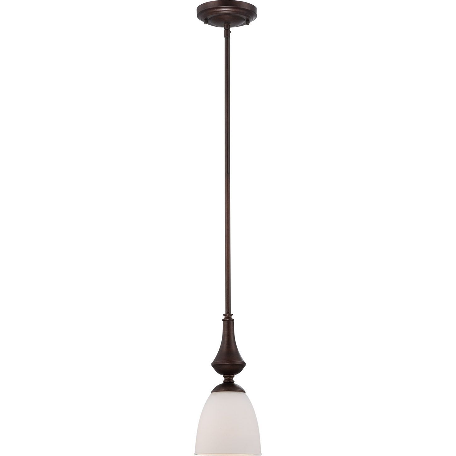 Nuvo Patton 1 Light Prairie Bronze Mini Pendant In 2019 Within Well Known Grullon Scroll 1 Light Single Bell Pendants (View 18 of 25)