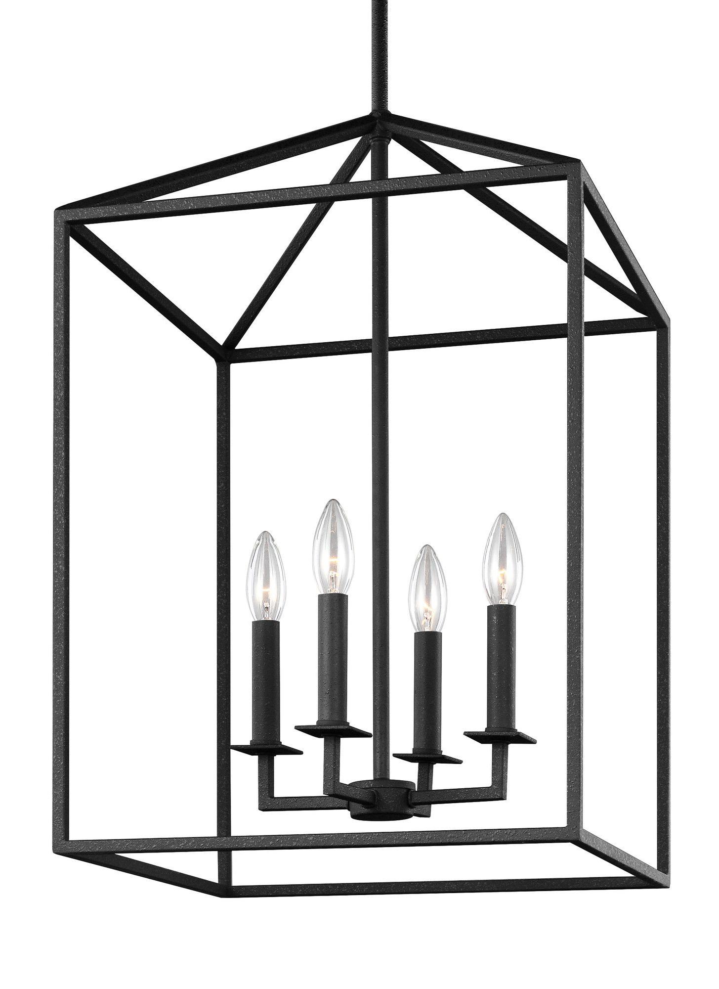 Odie 4 Light Lantern Square Pendants With Regard To Trendy Odie 4 Light Lantern Pendant (View 17 of 25)