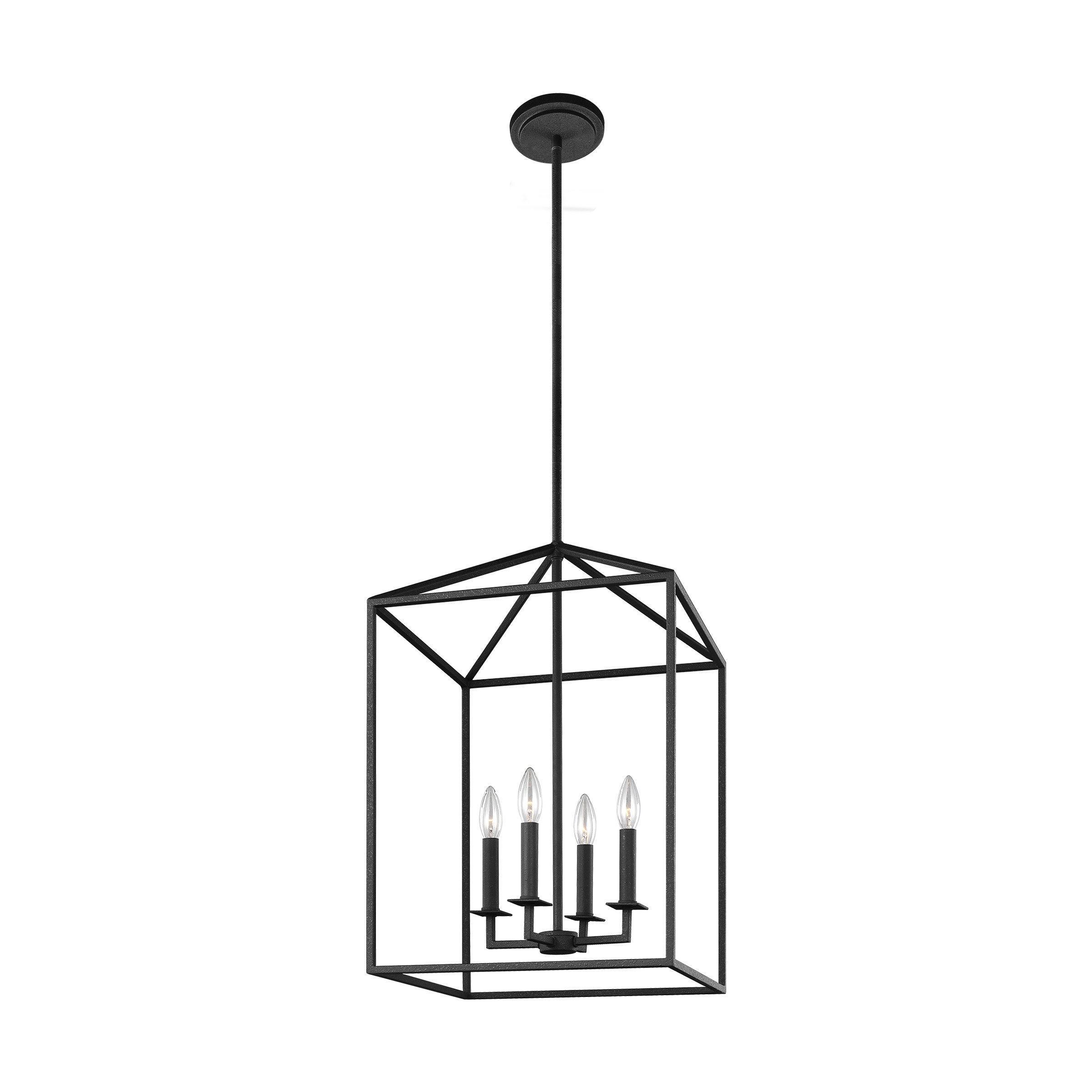 Odie 4 Light Lantern Square/rectangle Pendant Within Well Known Odie 8 Light Kitchen Island Square / Rectangle Pendants (View 11 of 25)