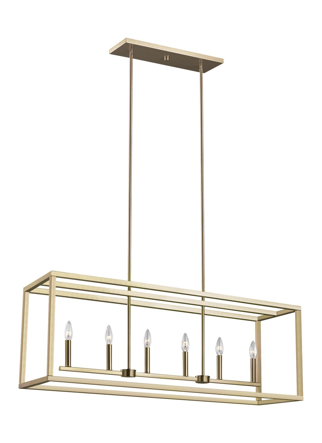 Odie 8 Light Kitchen Island Square / Rectangle Pendants Intended For Most Recently Released Six Light Island Pendant (View 14 of 25)