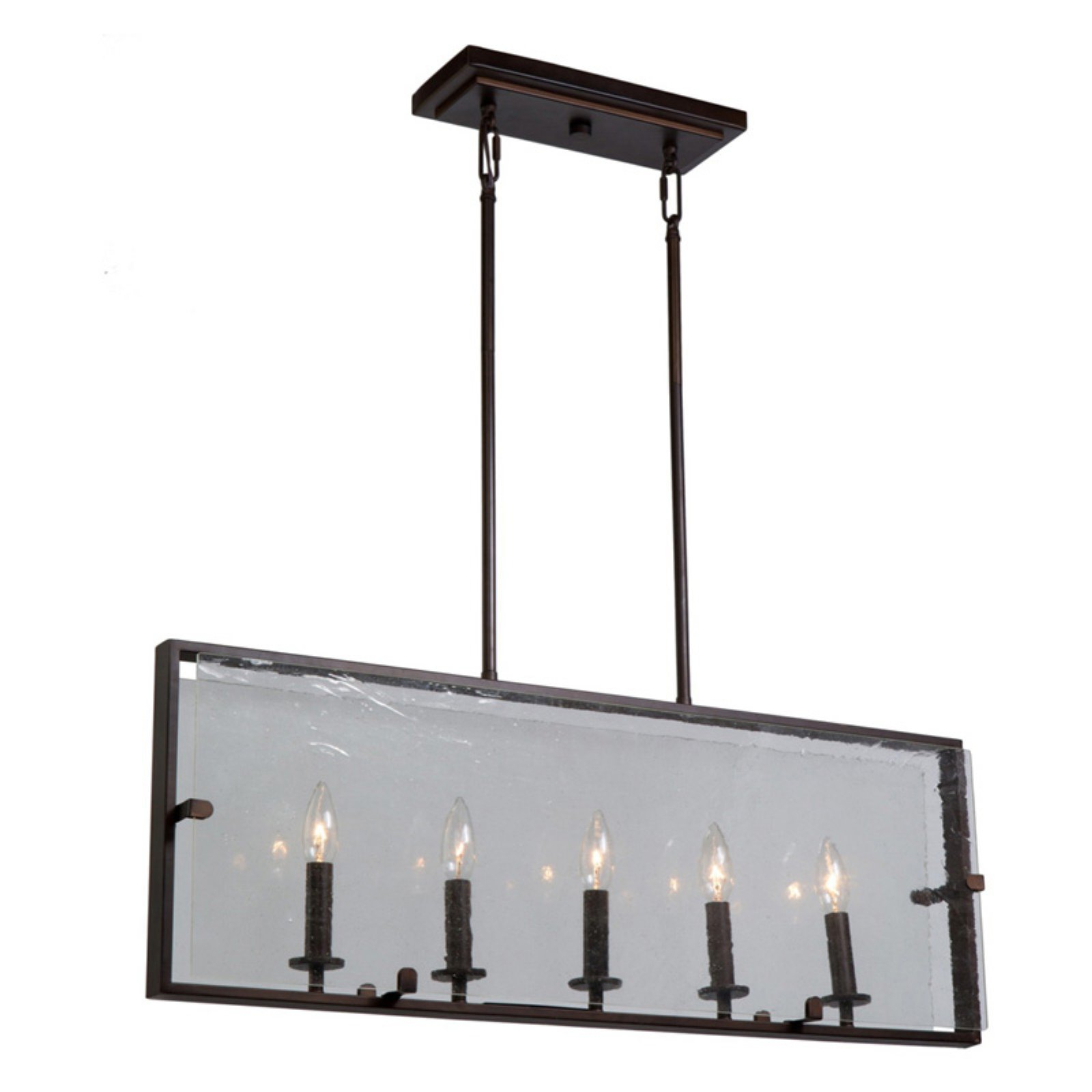 Odie 8 Light Kitchen Island Square / Rectangle Pendants Pertaining To Most Recently Released Artcraft Harbor Point Ac10304 Kitchen Island Light Oil (View 15 of 25)