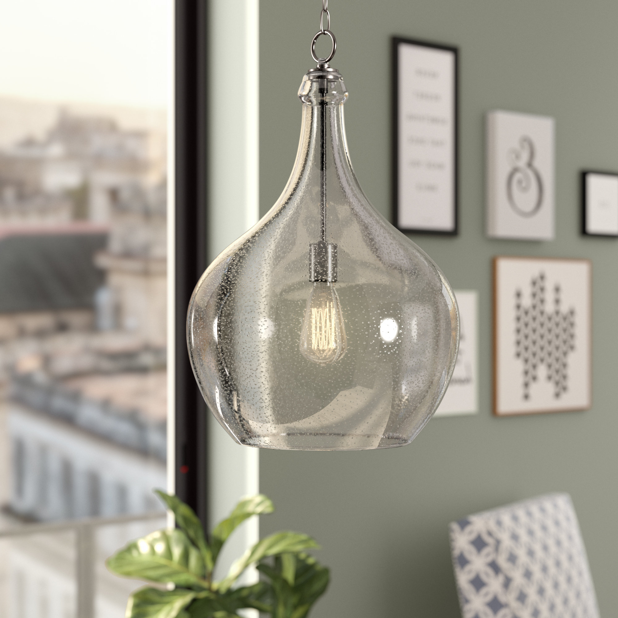 Oldbury 1 Light Single Cylinder Pendants For Most Up To Date Bustillos 1 Light Single Globe Pendant (View 21 of 25)