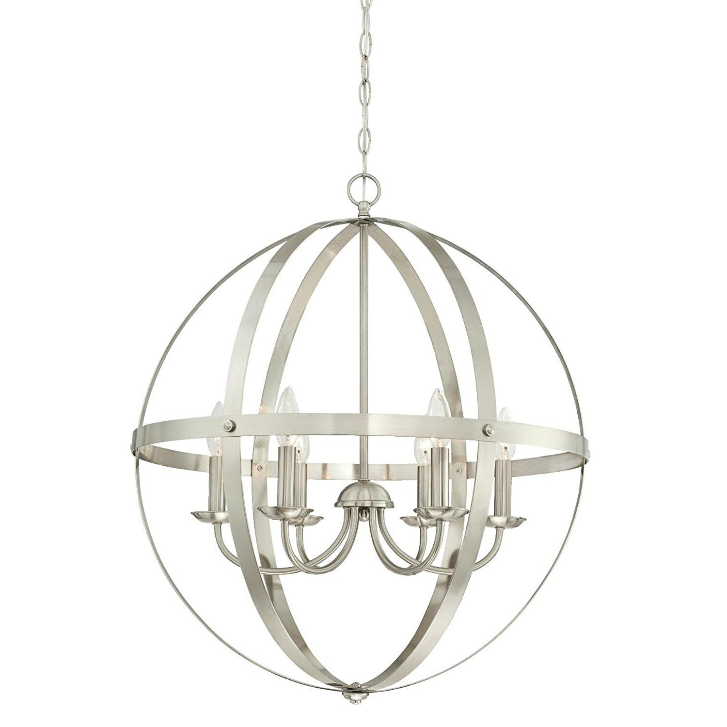 Open Cage Chandelier — Perfect For Vintage Inspired For Most Recently Released La Barge 3 Light Globe Chandeliers (View 10 of 25)