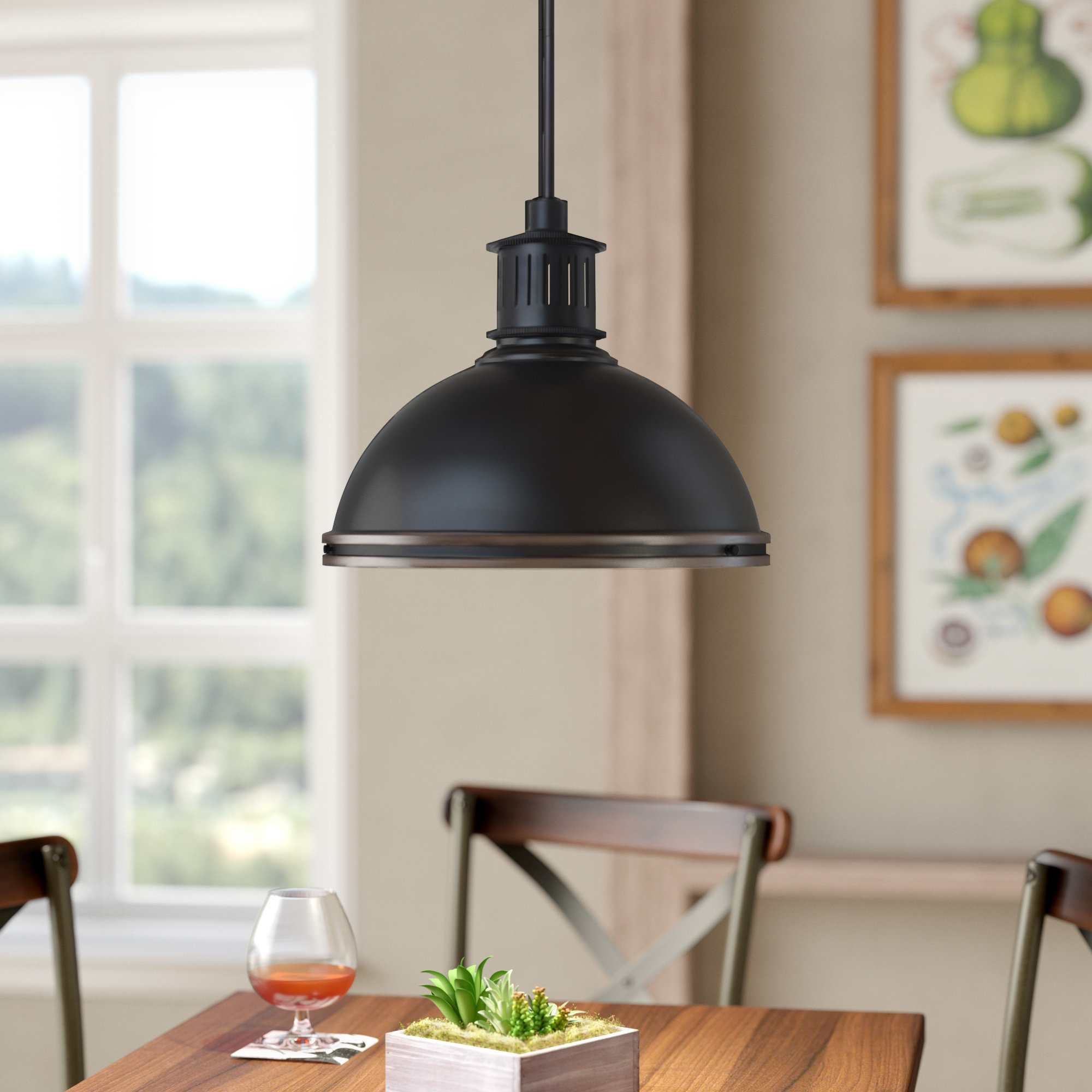 Orchard Hill 3 Light Dome Pendant Regarding Best And Newest Amara 3 Light Dome Pendants (View 4 of 25)