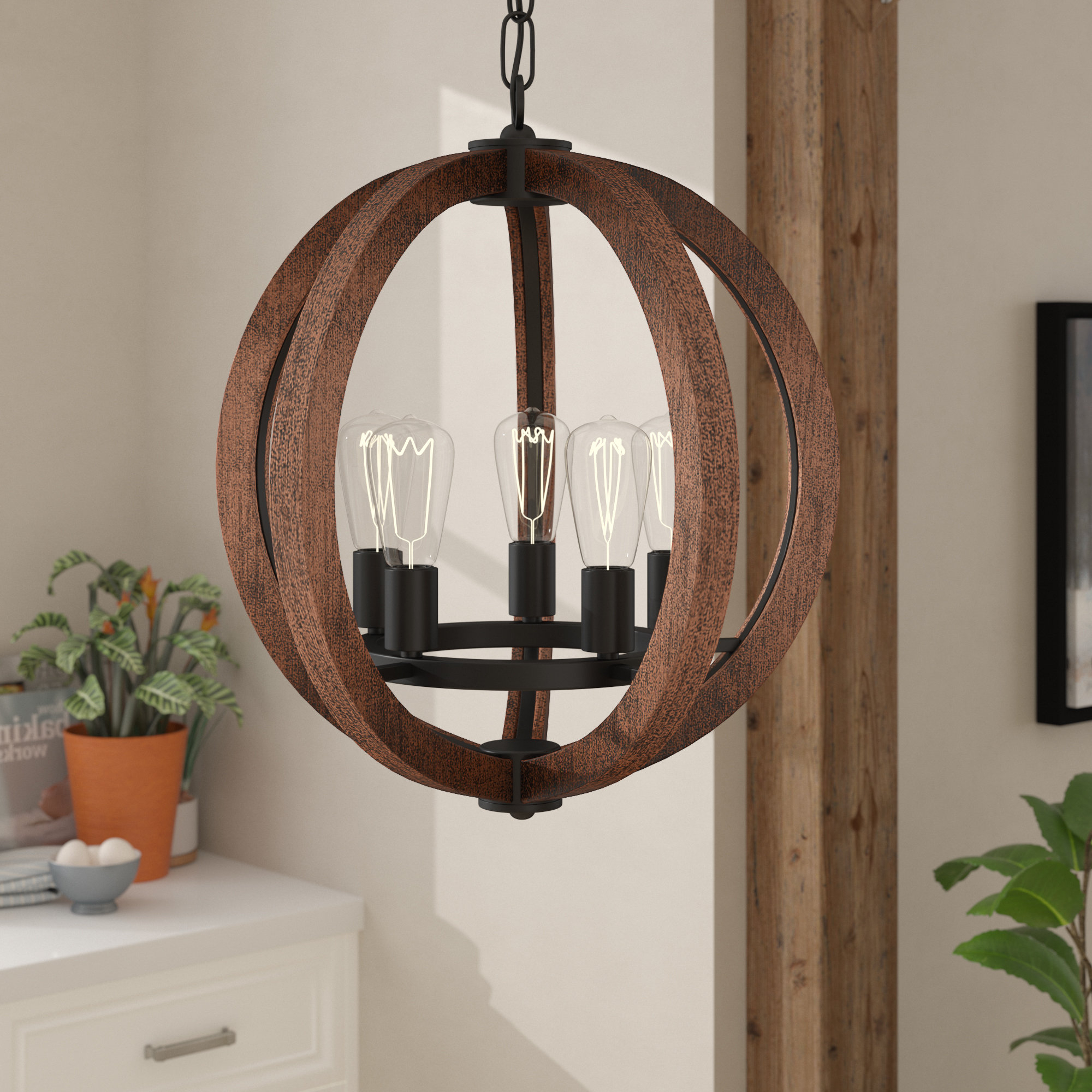 Orly 5 Light Globe Chandelier With Best And Newest Ricciardo 4 Light Globe Chandeliers (View 25 of 25)