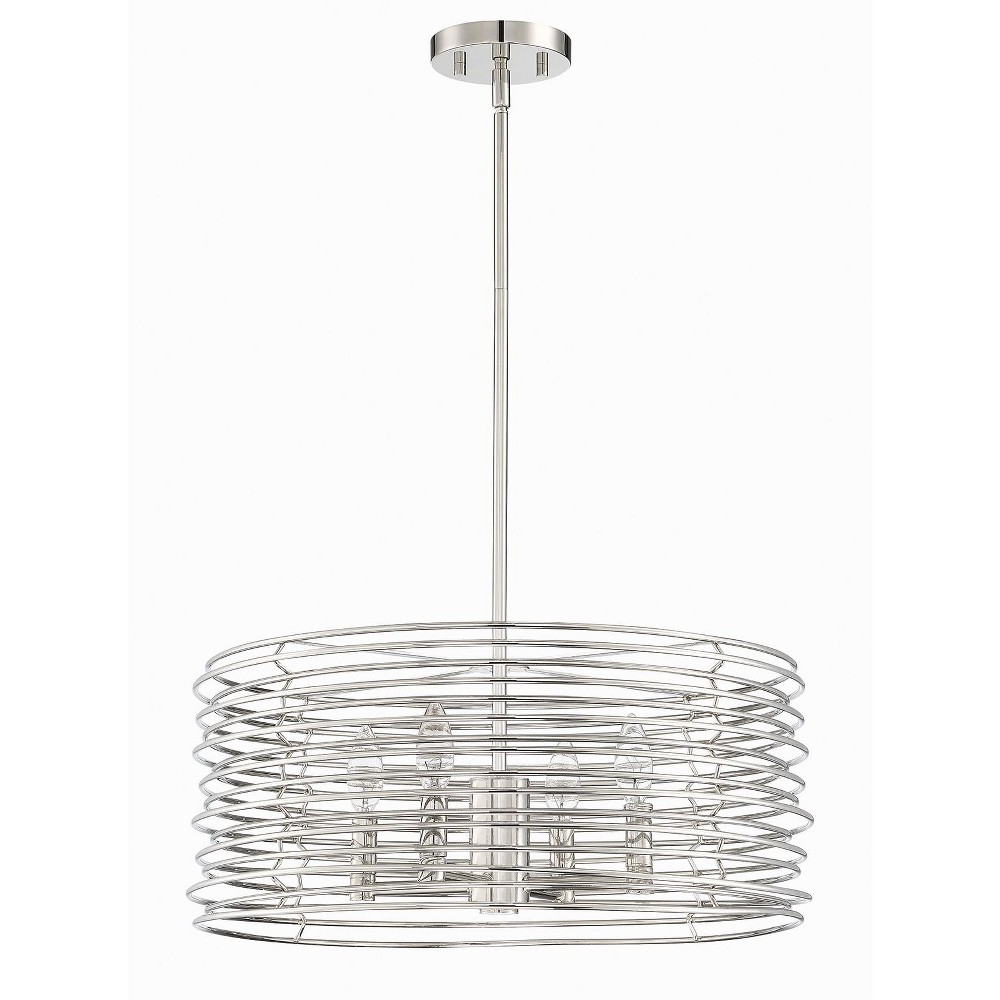 """Park Harbor Phpl6474 4 Light 20"""" Wide Drum Chandelier Pertaining To Most Up To Date Dirksen 3 Light Single Cylinder Chandeliers (View 20 of 25)"""