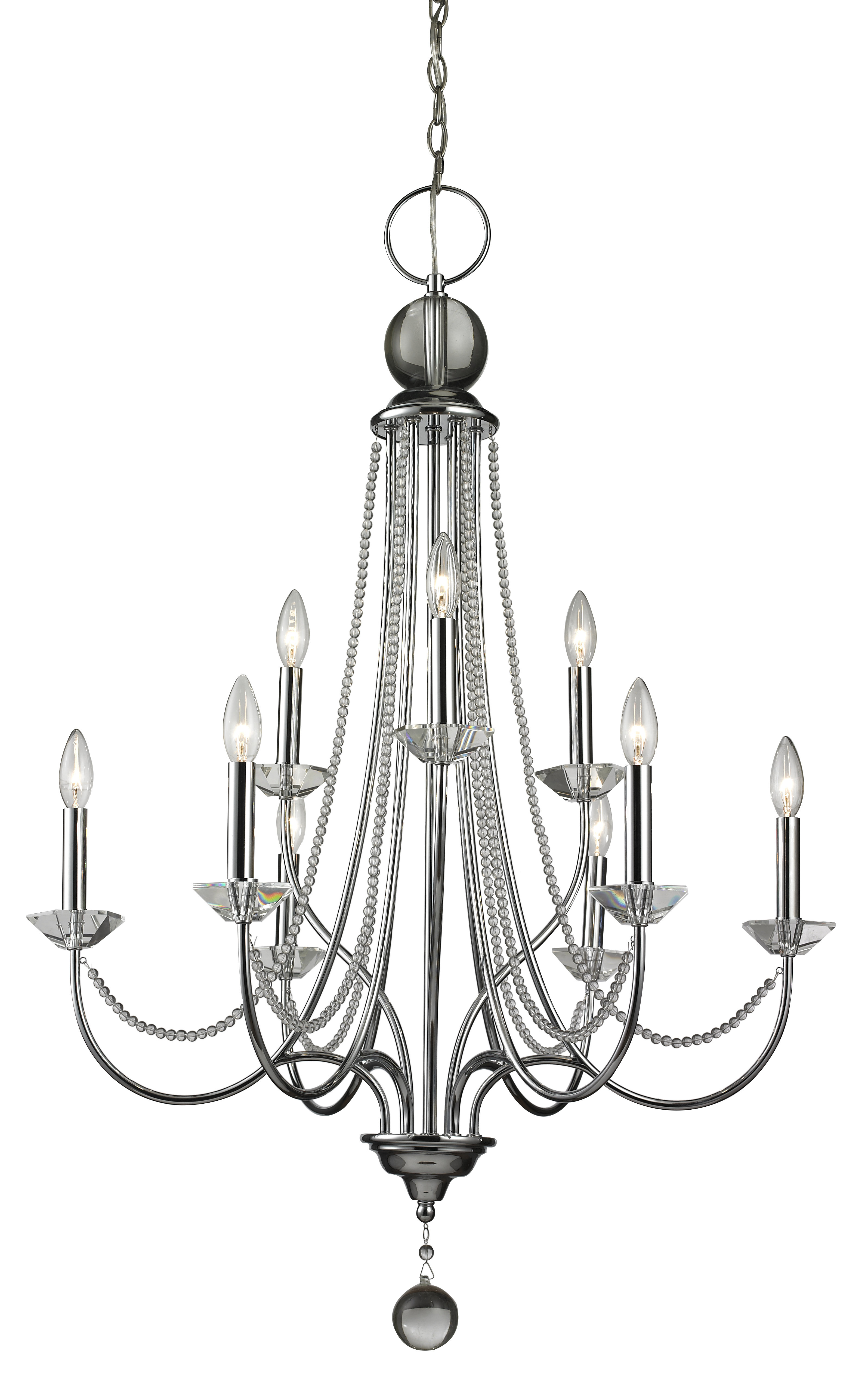 Patrice 9 Light Candle Style Chandelier For Most Recently Released Gaines 9 Light Candle Style Chandeliers (View 16 of 25)