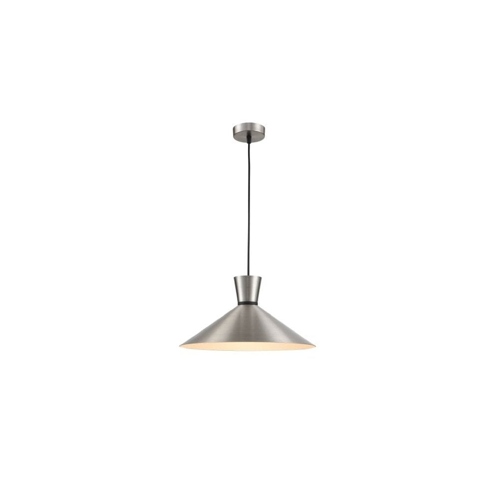 Pch211 Happy Single Light Ceiling Pendant With Satin Nickel Finish For Most Current Terry 1 Light Single Bell Pendants (View 24 of 25)