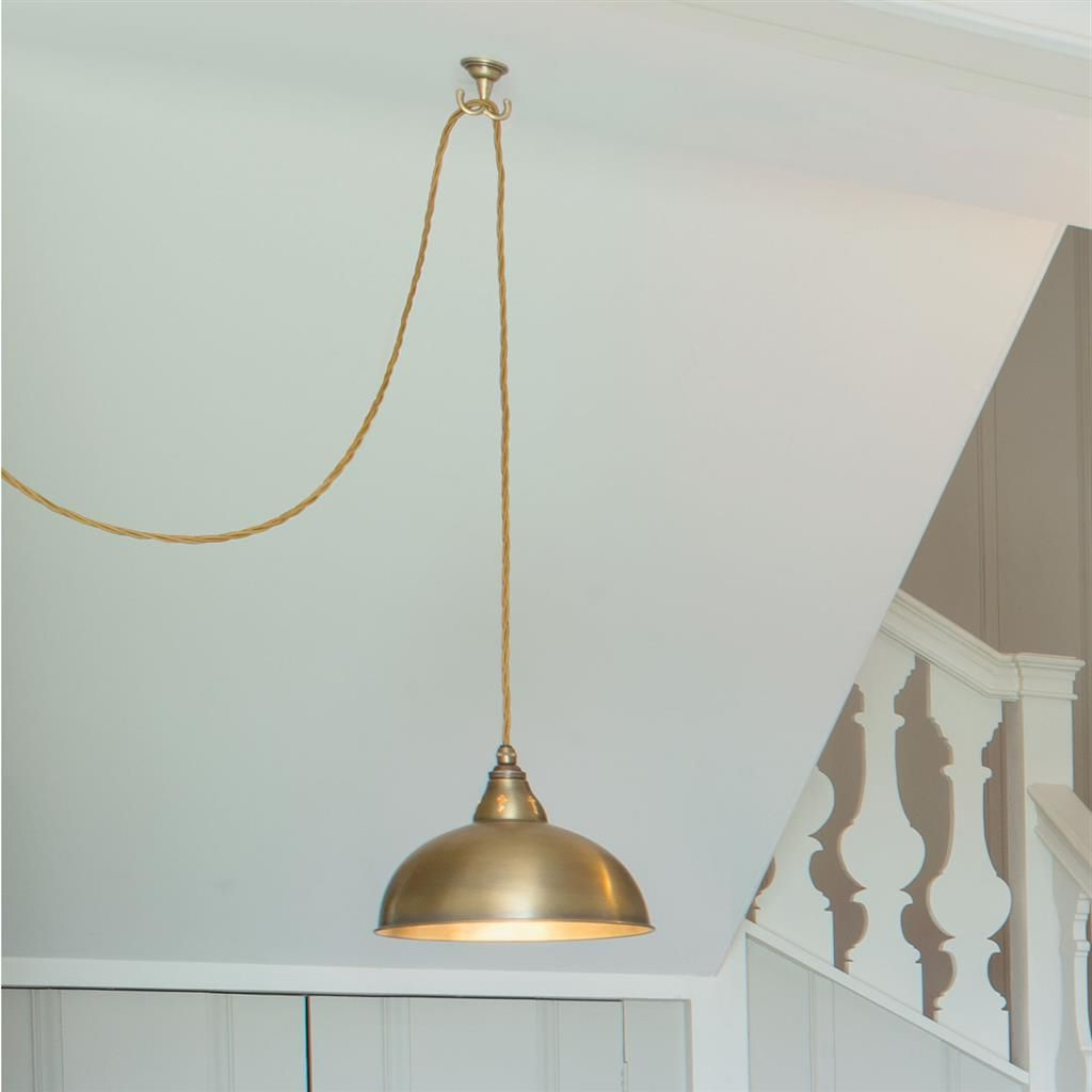 Pendant Flex Ceiling Hook In Antiqued Brass (View 19 of 25)