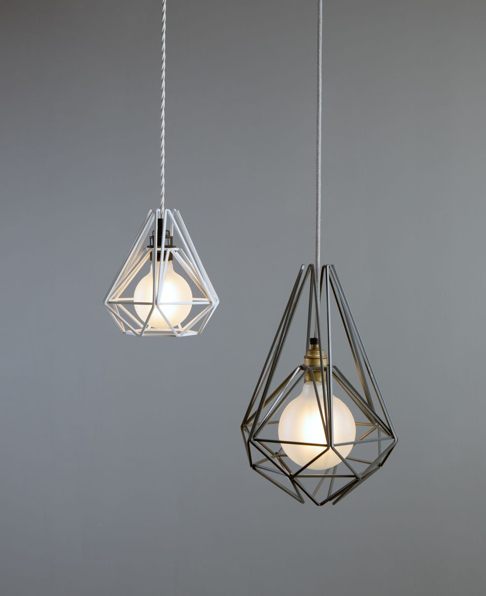 Pink Chai Cage Pendant Light – Large & Small Geometric Light In Trendy Kraker 1 Light Single Cylinder Pendants (View 17 of 25)