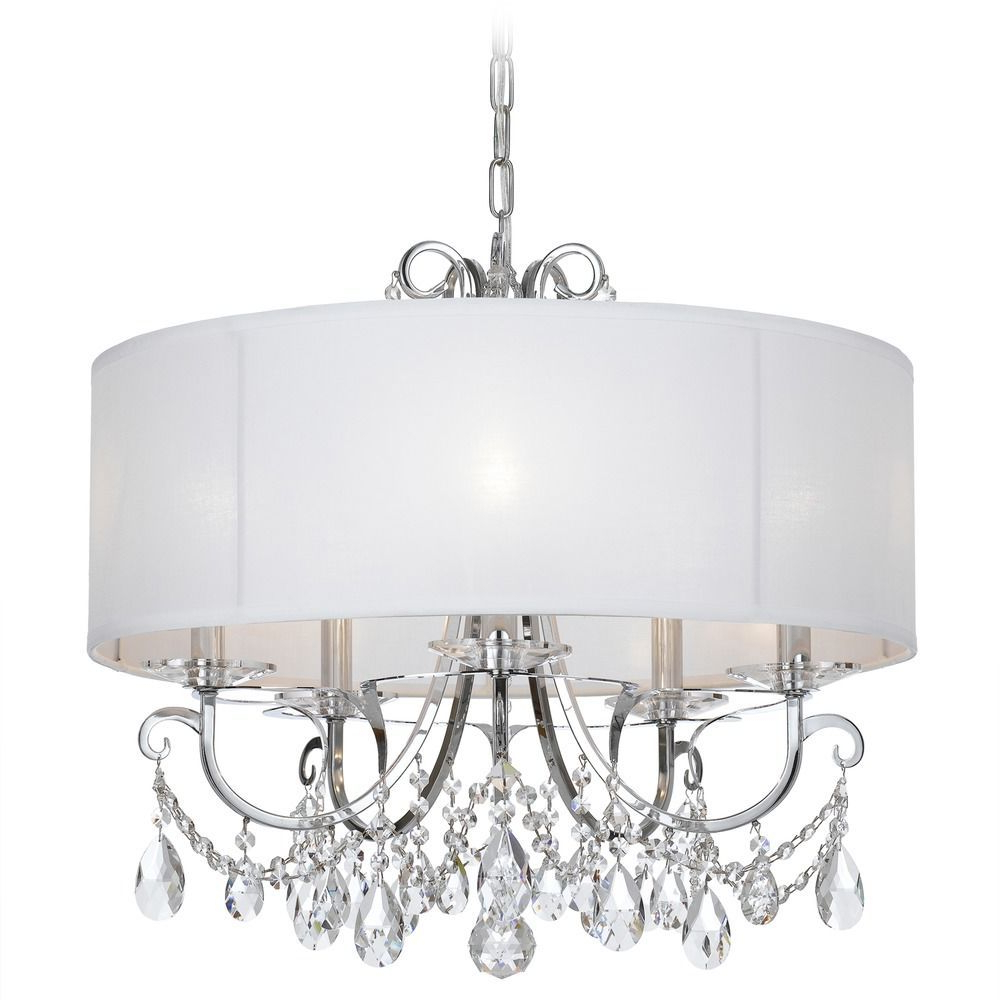Popular Abel 5 Light Drum Chandeliers Inside Crystorama Lighting Othello Polished Chrome Pendant Light (View 19 of 25)