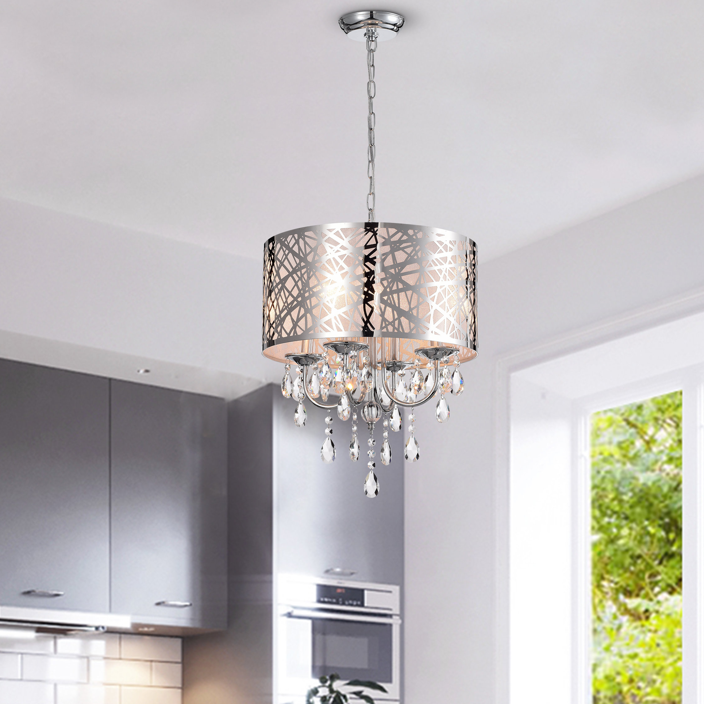 Popular Aurore 4 Light Crystal Chandeliers In Alverez 4 Light Crystal Chandelier (View 19 of 25)