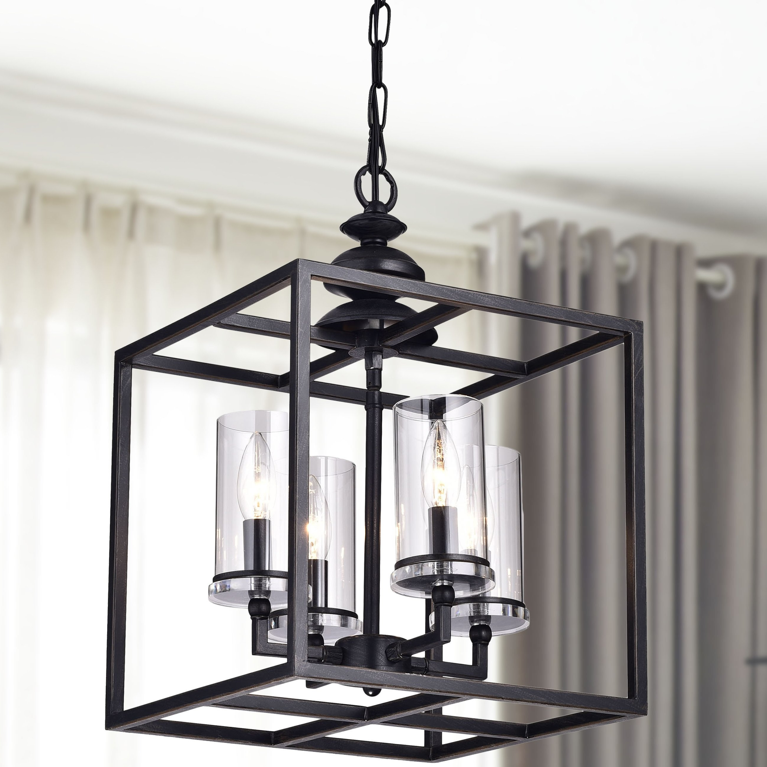 Popular Freeburg 4 Light Lantern Square / Rectangle Pendants Inside Darby Home Co Didmarton 4 Light Square/rectangle Chandelier (View 24 of 25)