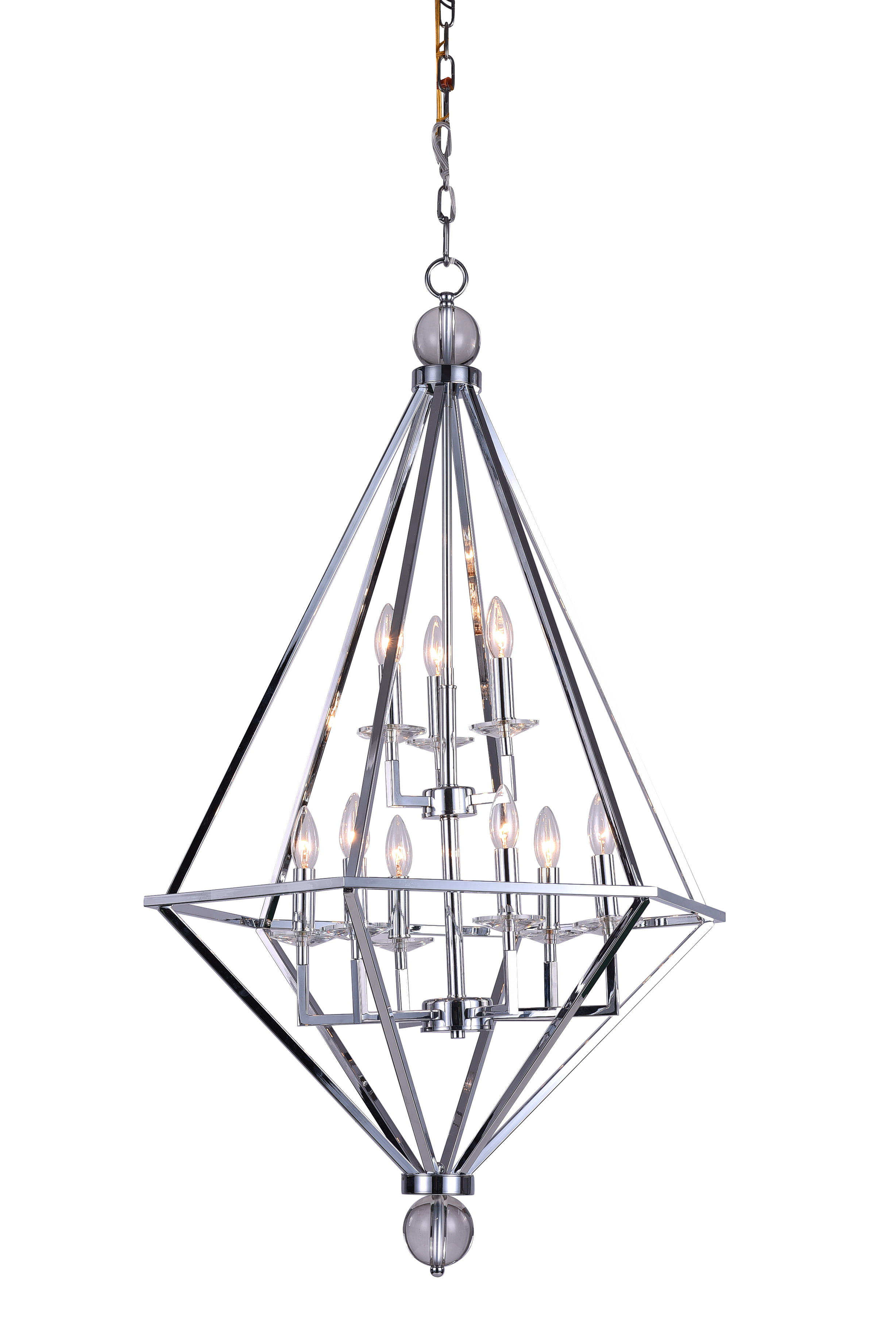 Popular Kenedy 9 Light Candle Style Chandeliers Pertaining To Cwi Lighting (View 17 of 25)