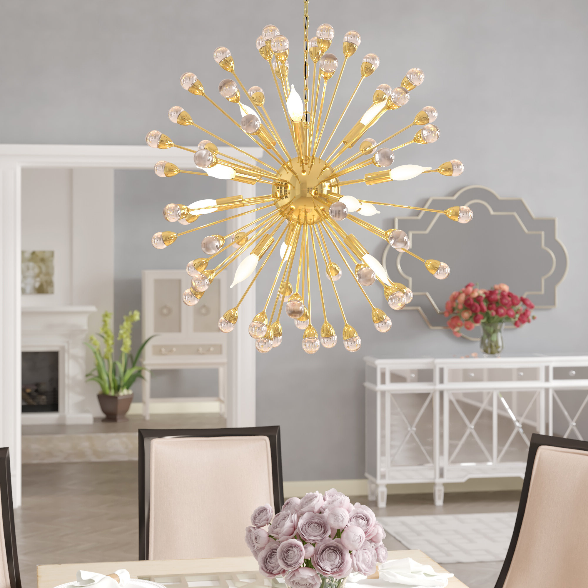 Popular Kucharski 12 Light Sputnik Chandelier Within Nelly 12 Light Sputnik Chandeliers (View 21 of 25)