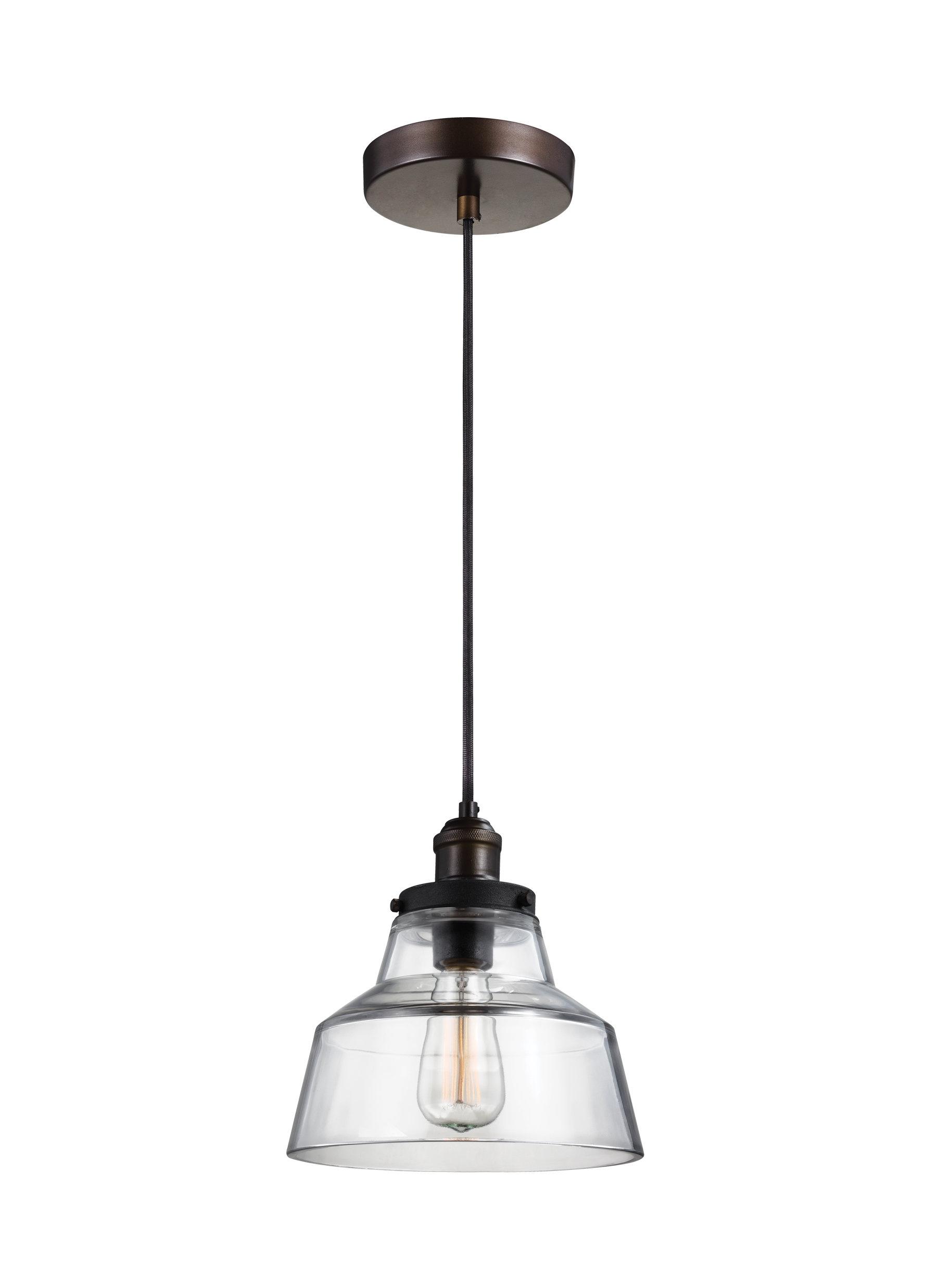 Popular Roslindale 1 Light Single Bell Pendants Within Sherman 1 Light Single Geometric Pendant (View 14 of 25)