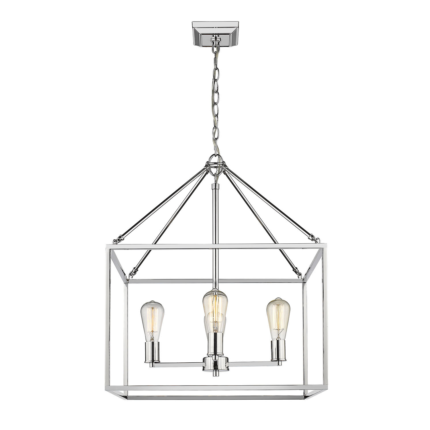Popular Thorne 4 Light Lantern Rectangle Pendants With Regard To Zabel 4 Light Lantern Square / Rectangle Pendant (View 21 of 25)