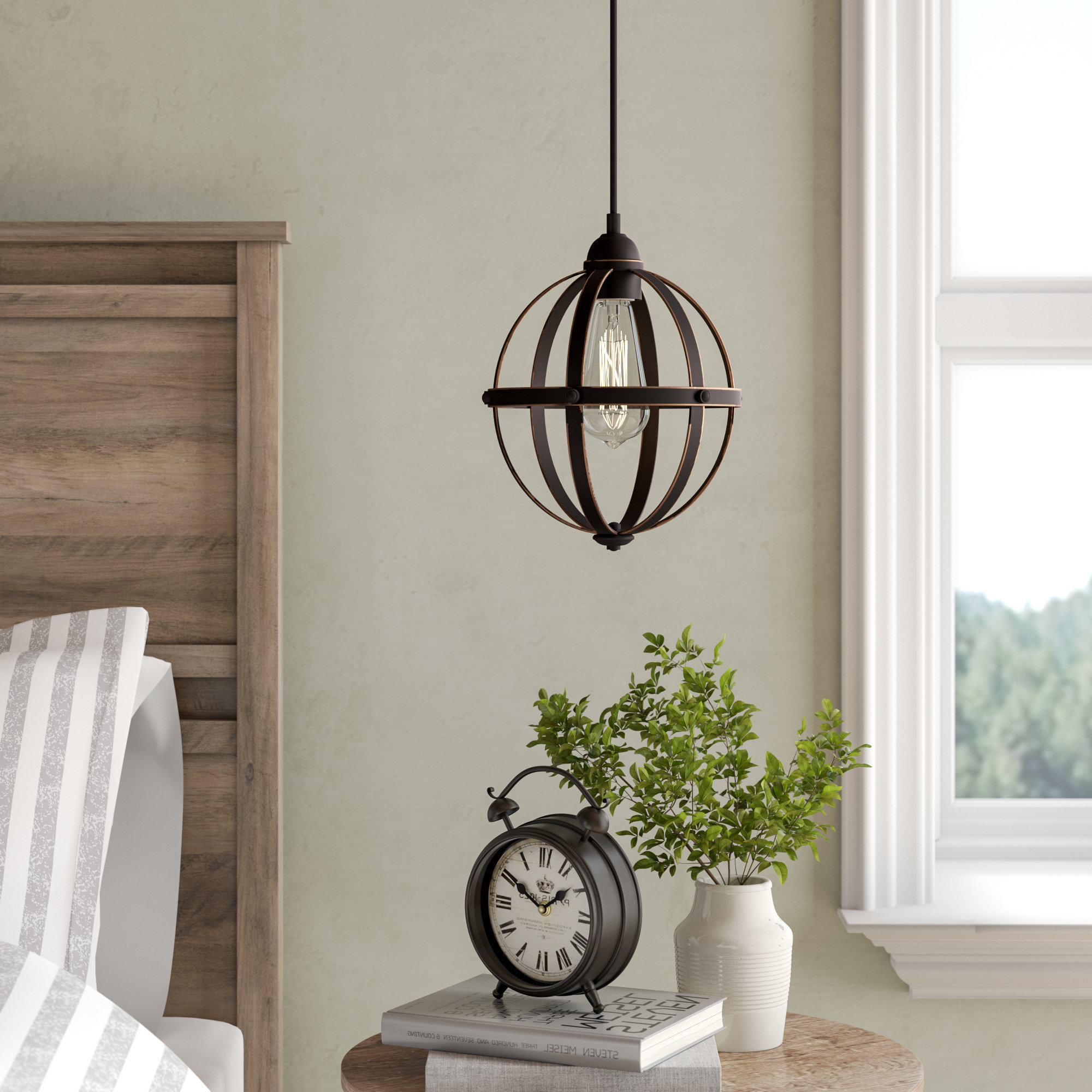 Prange 1 Light Single Globe Pendants Intended For Most Popular Genna 1 Light Single Globe Pendant (View 20 of 25)