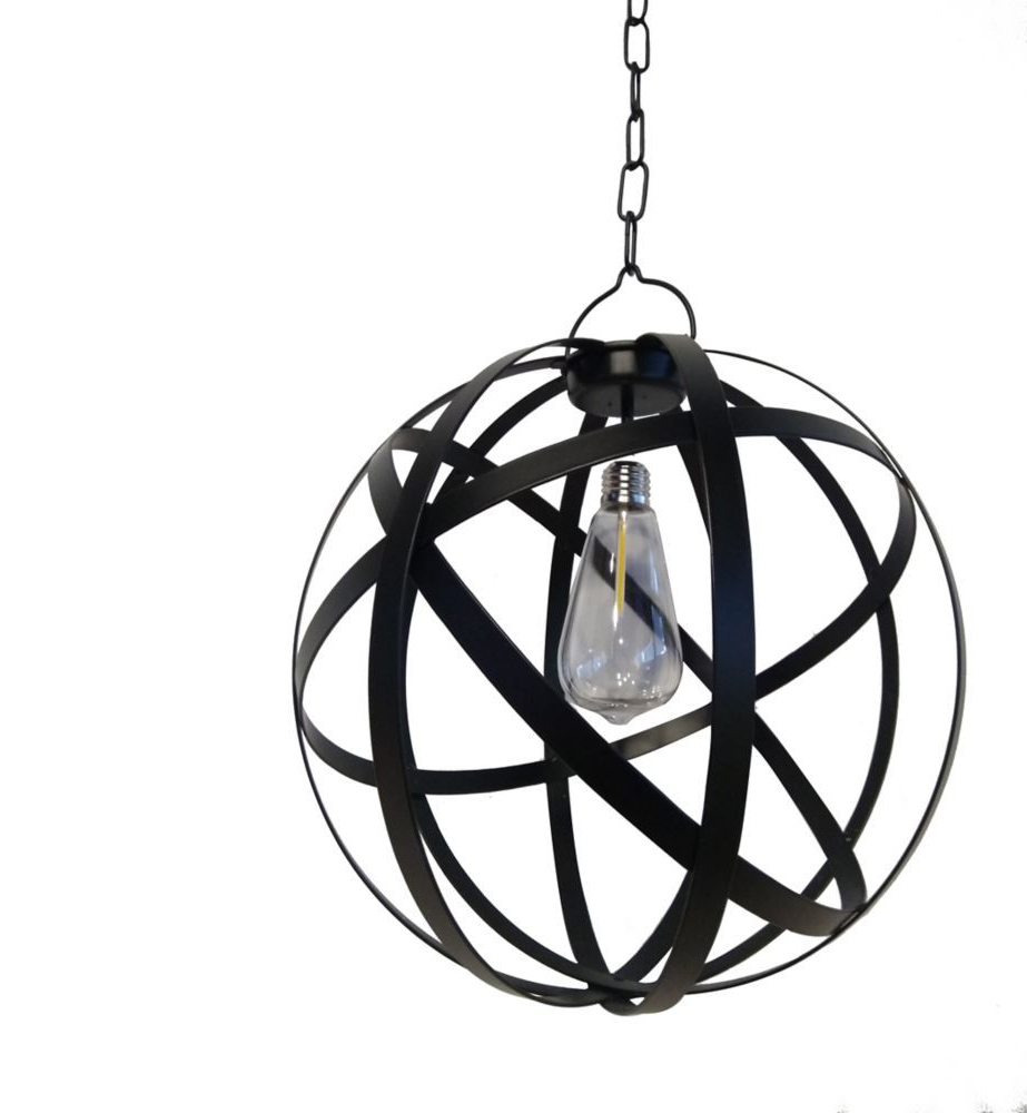 Prange 1 Light Single Globe Pendants Regarding Preferred G Light Collection Led Battery Operated Outdoor Globe Gazebo (View 13 of 25)
