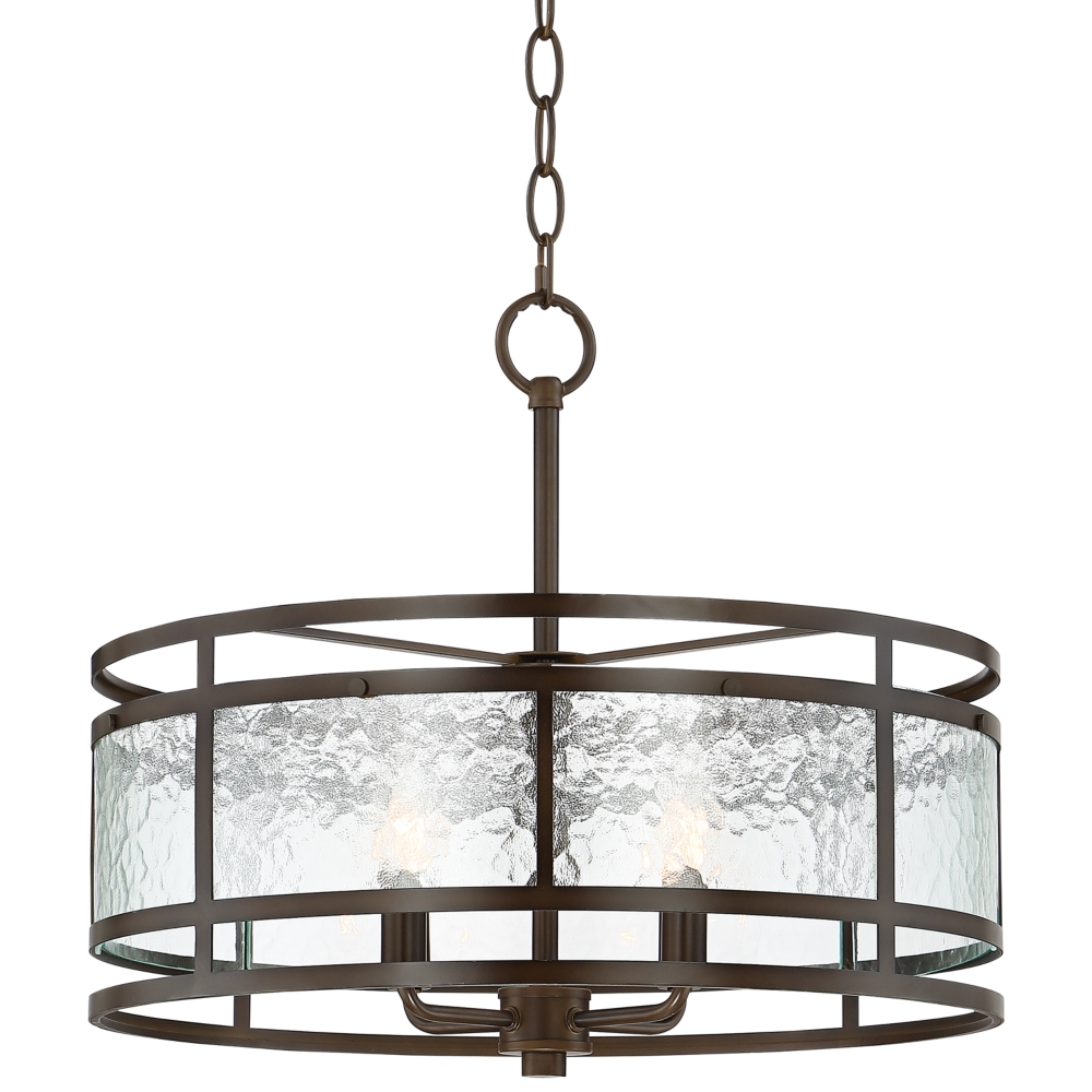 "Preferred Armande 3 Light Lantern Geometric Pendants Intended For Edinger 20"" Wide Oil Rubbed Bronze Metal Pendant – Style (View 24 of 25)"