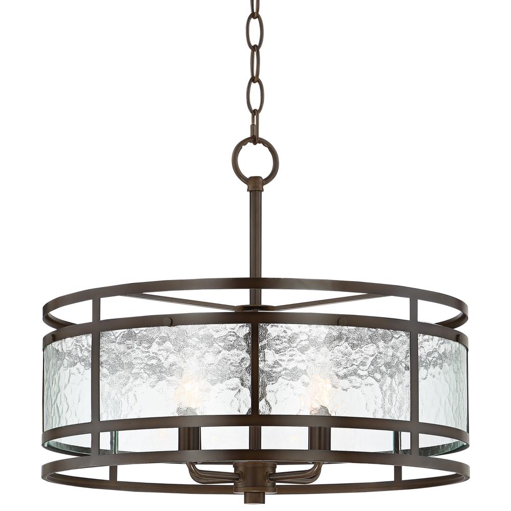 "Preferred Armande 3 Light Lantern Geometric Pendants Intended For Edinger 20"" Wide Oil Rubbed Bronze Metal Pendant – Style (View 16 of 25)"