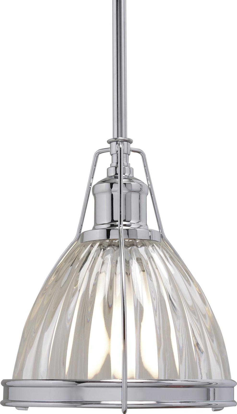 Preferred Birch Lane™ Heritage 1 Light Single Bell Pendant In Granville 3 Light Single Dome Pendants (View 14 of 25)