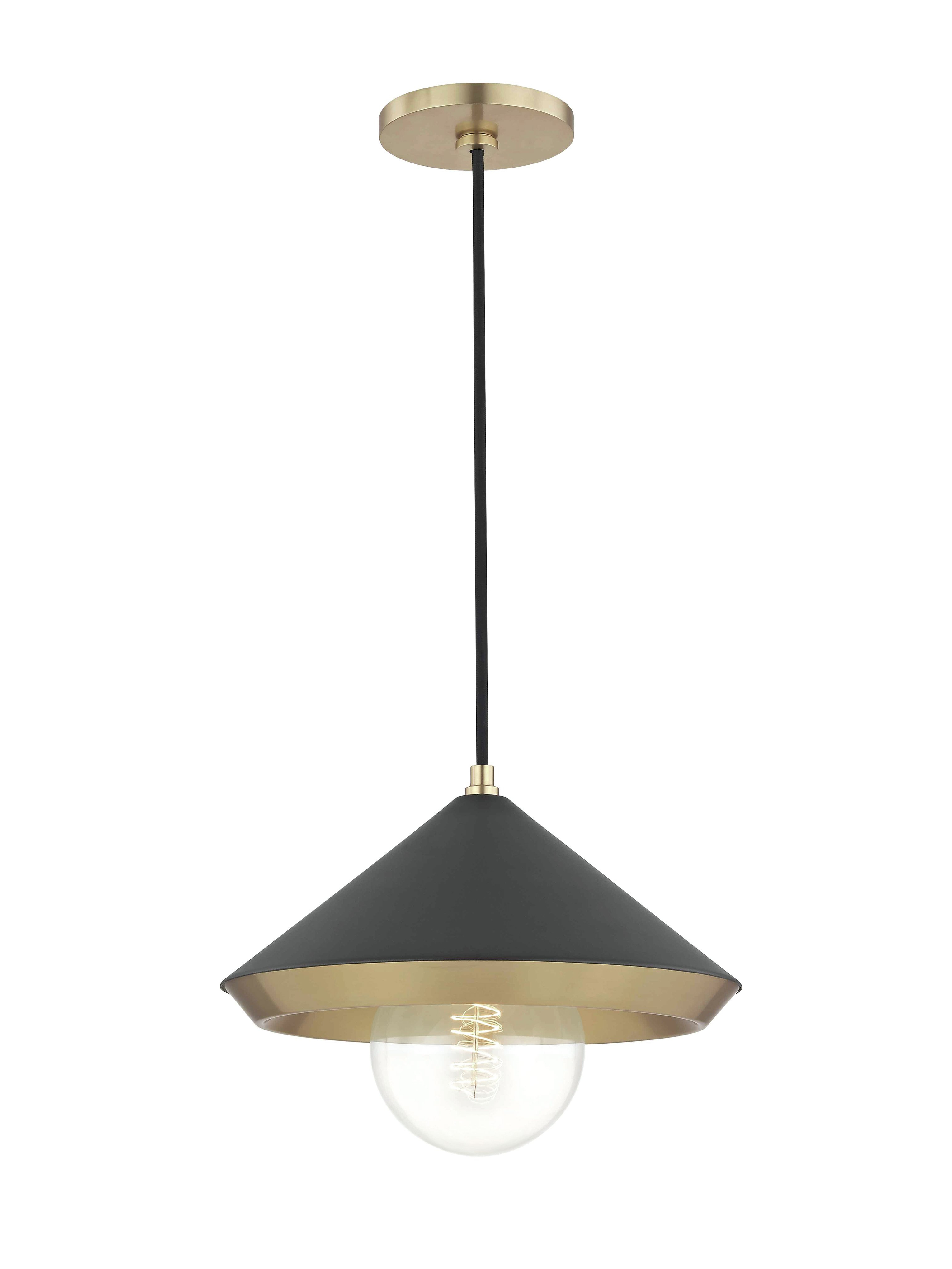 Preferred Conover 1 Light Dome Pendants Within Glendale Heights 1 Light Cone Pendant (View 18 of 25)