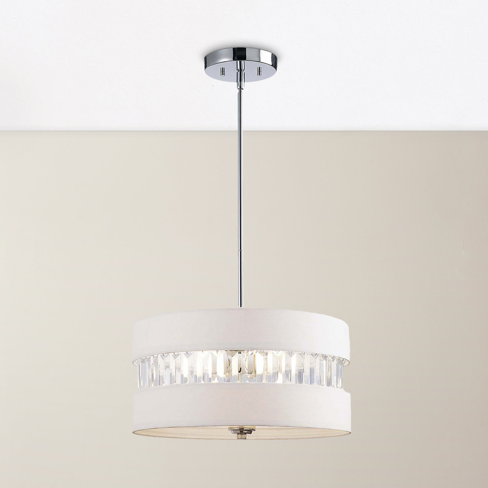 Preferred Ethelinde 3 Light Drum Chandelier Intended For Friedland 3 Light Drum Tiered Pendants (View 6 of 25)